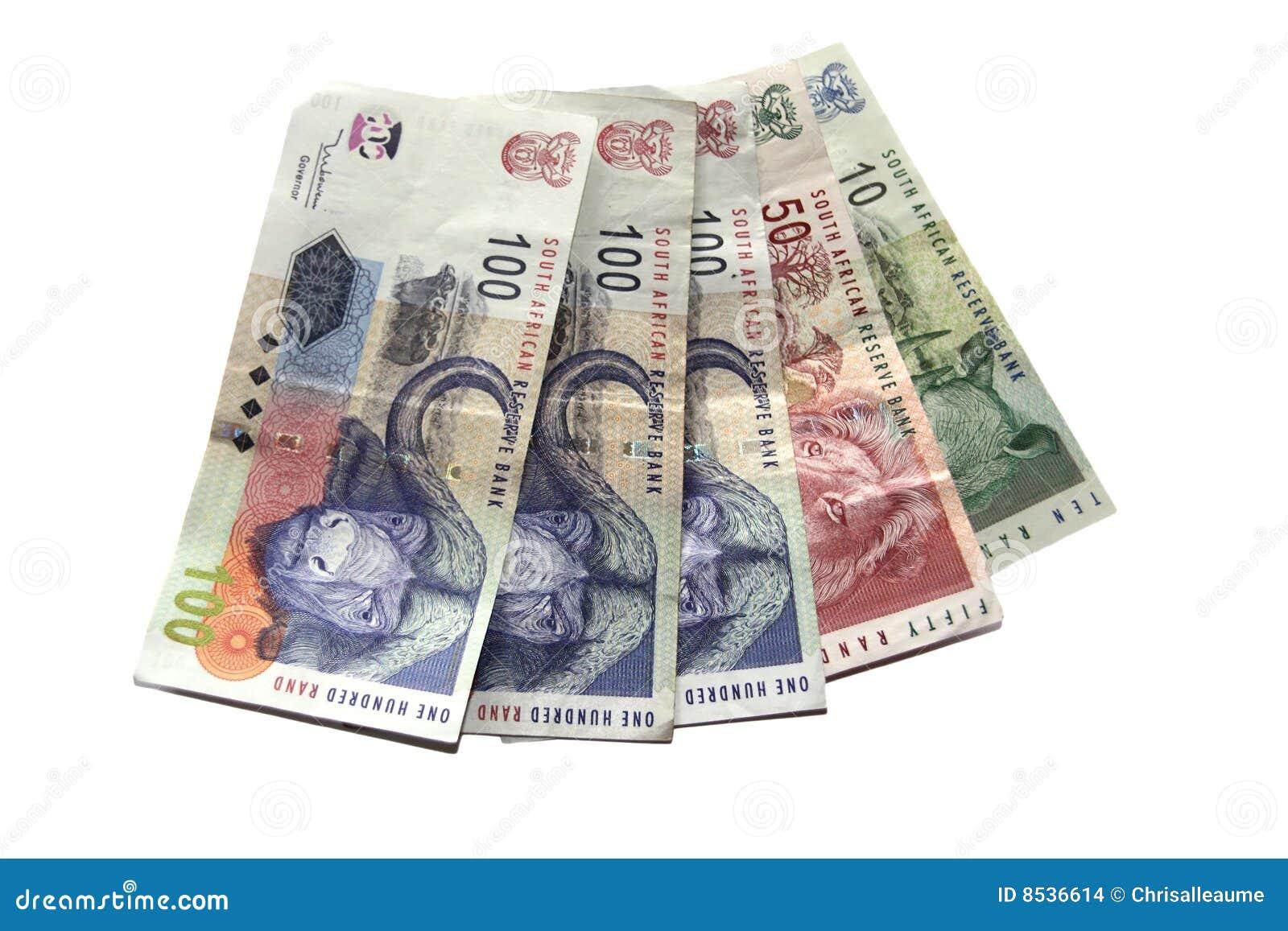 Geld auf Weiß