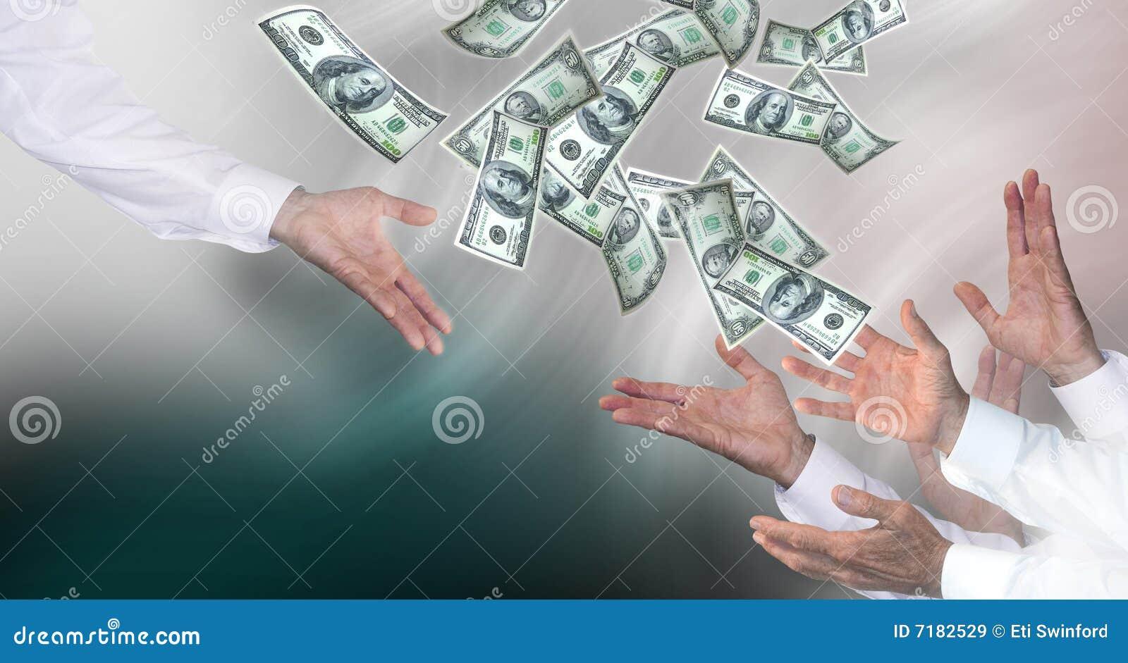 Geld bürgen heraus