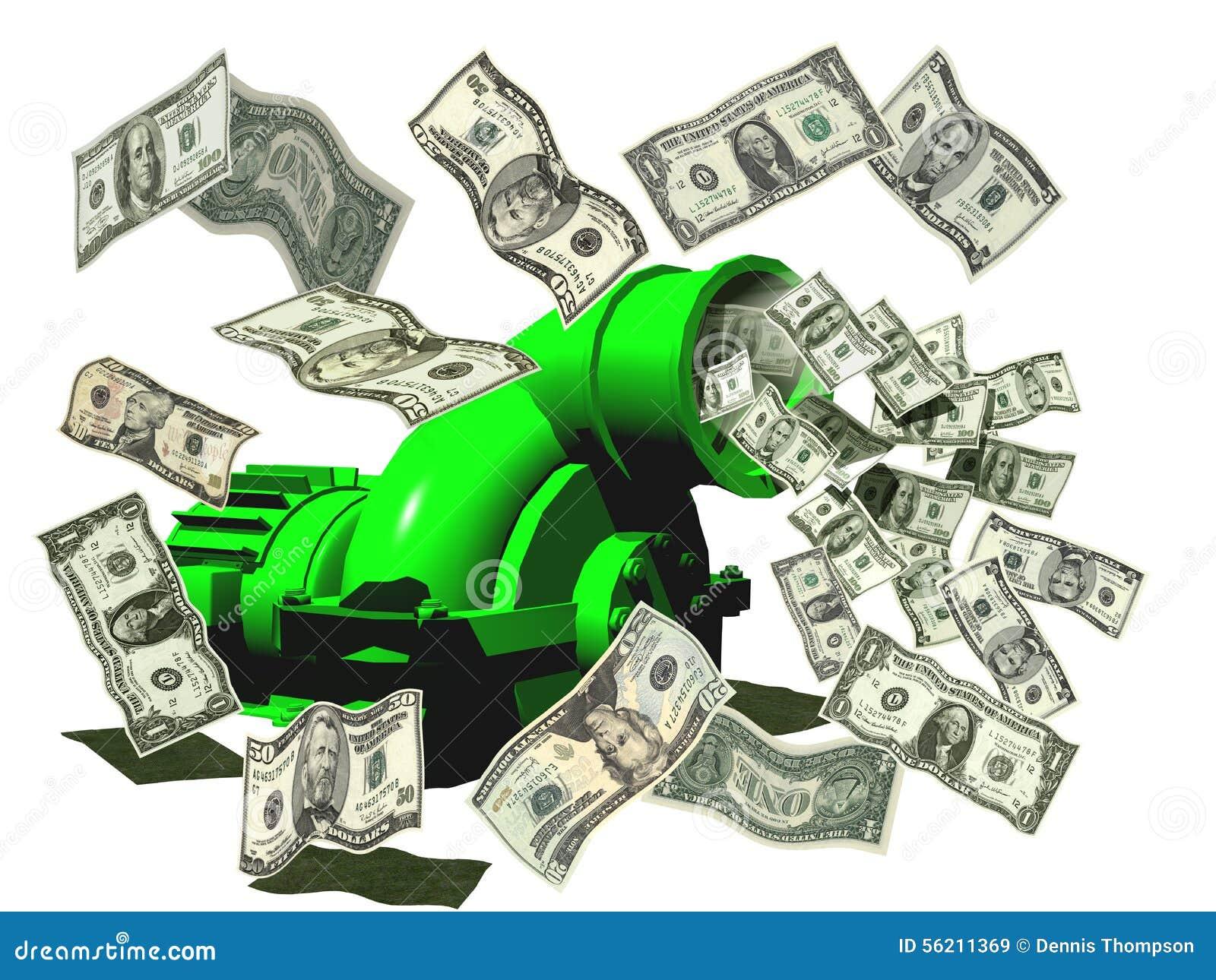 Geld, das Maschine herstellt