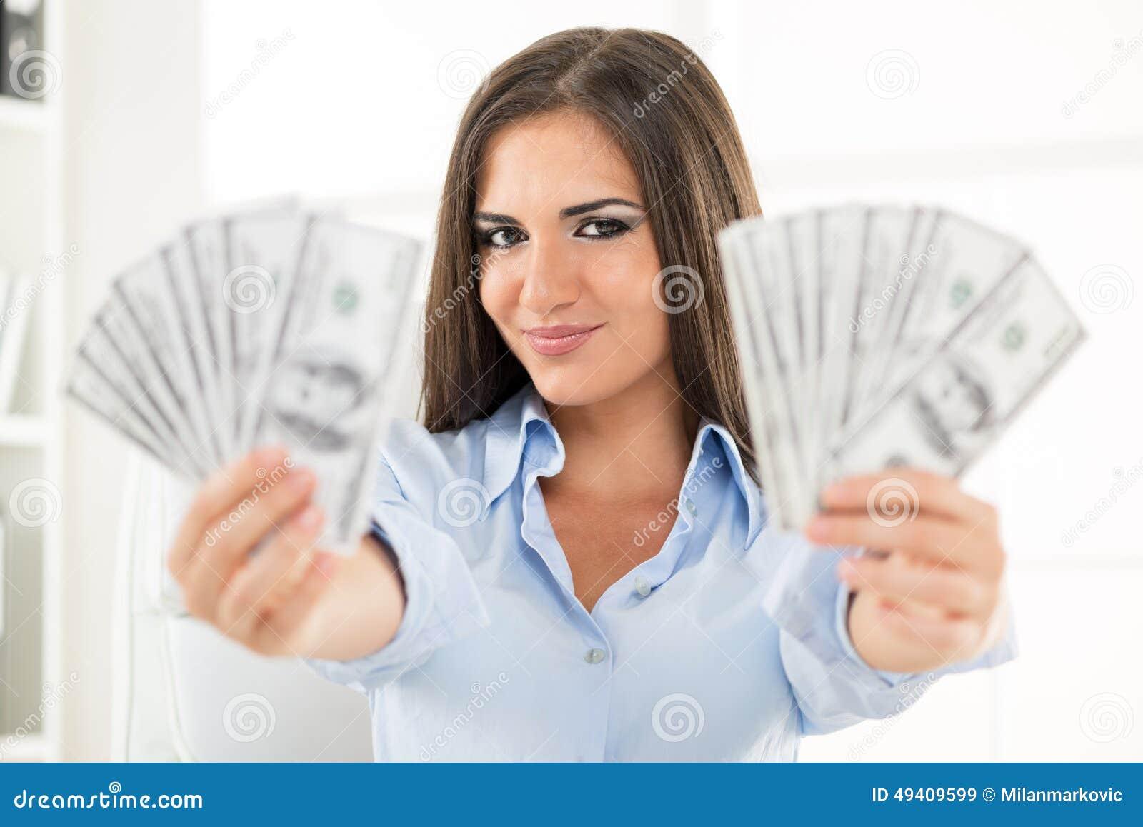 Download Geld in den Händen stockbild. Bild von gehalt, schön - 49409599