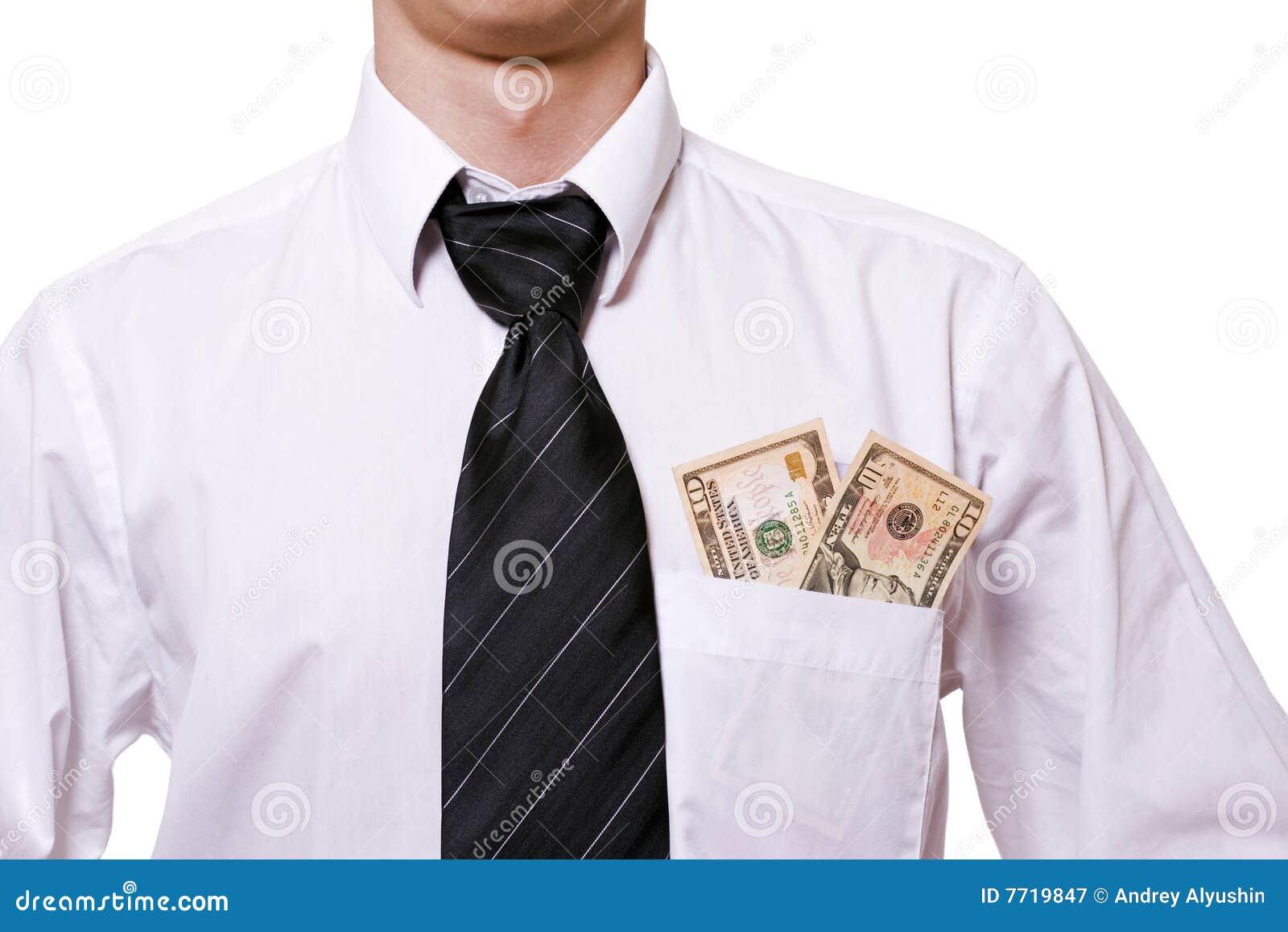 Geld in einer Tasche