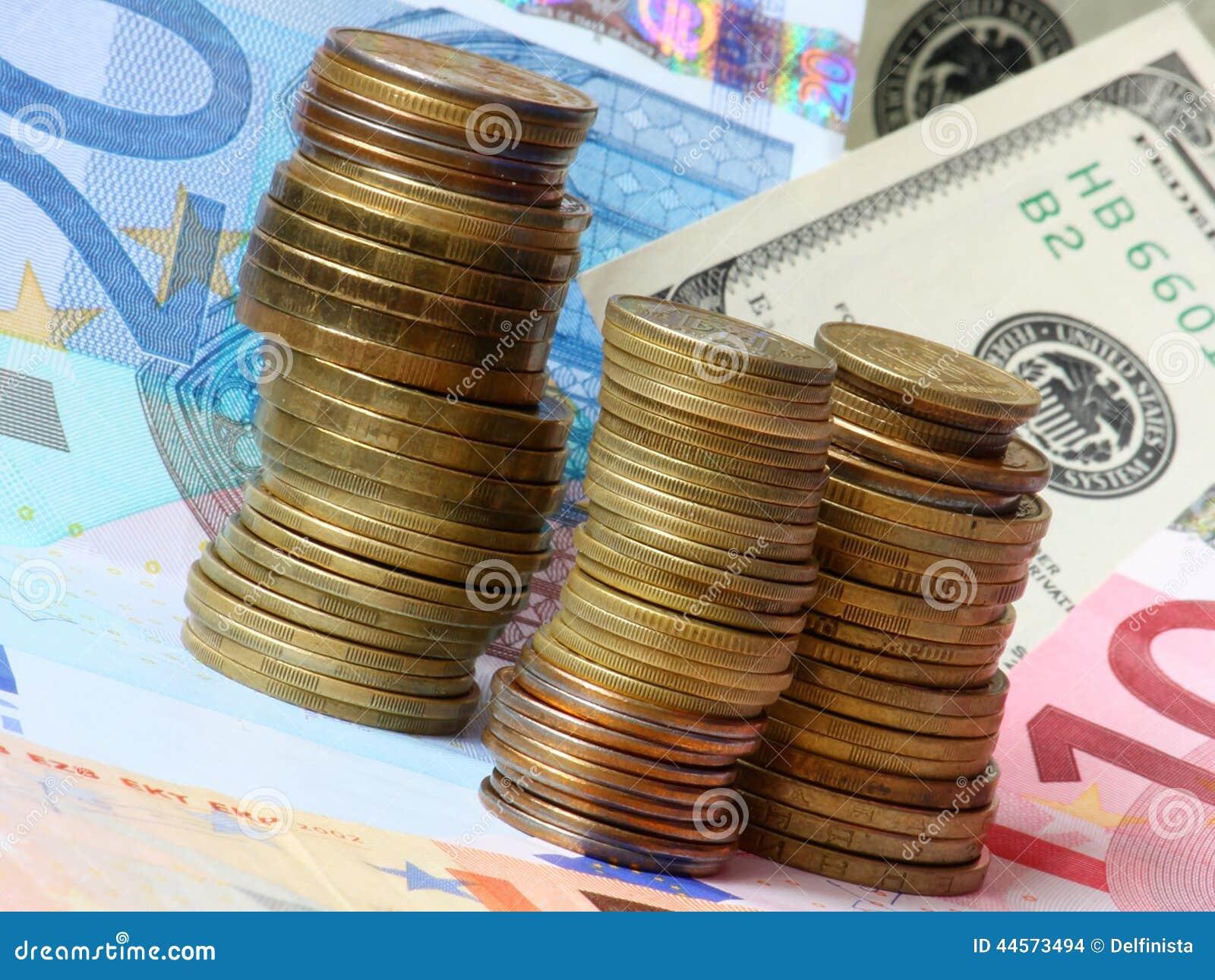 Geld - euro en dollars