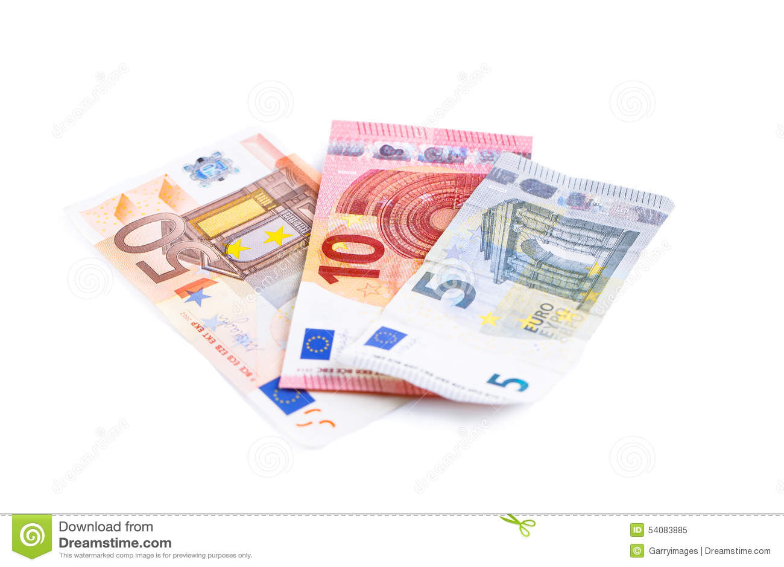Geld, Euro geïsoleerde munt (EUR) rekeningen