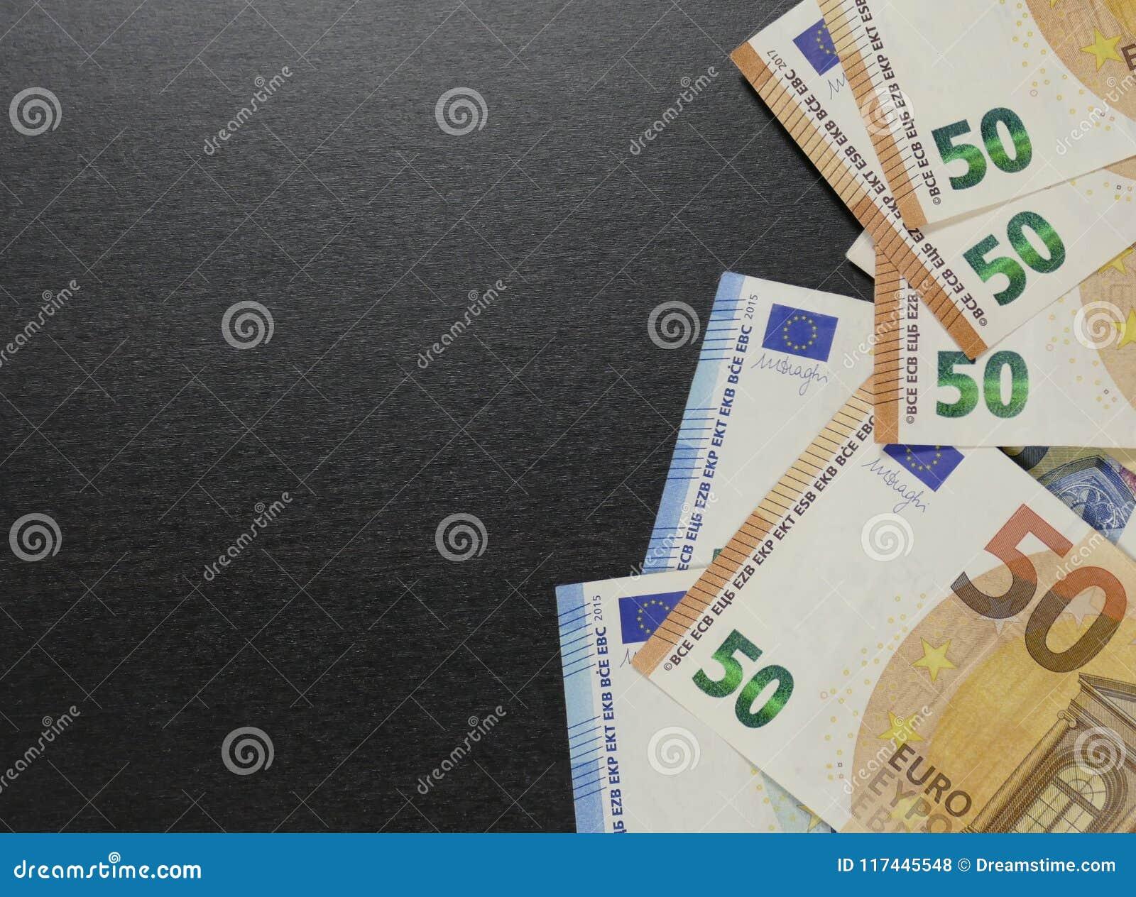 Geld Euro munt De Achtergrond van het contante geld
