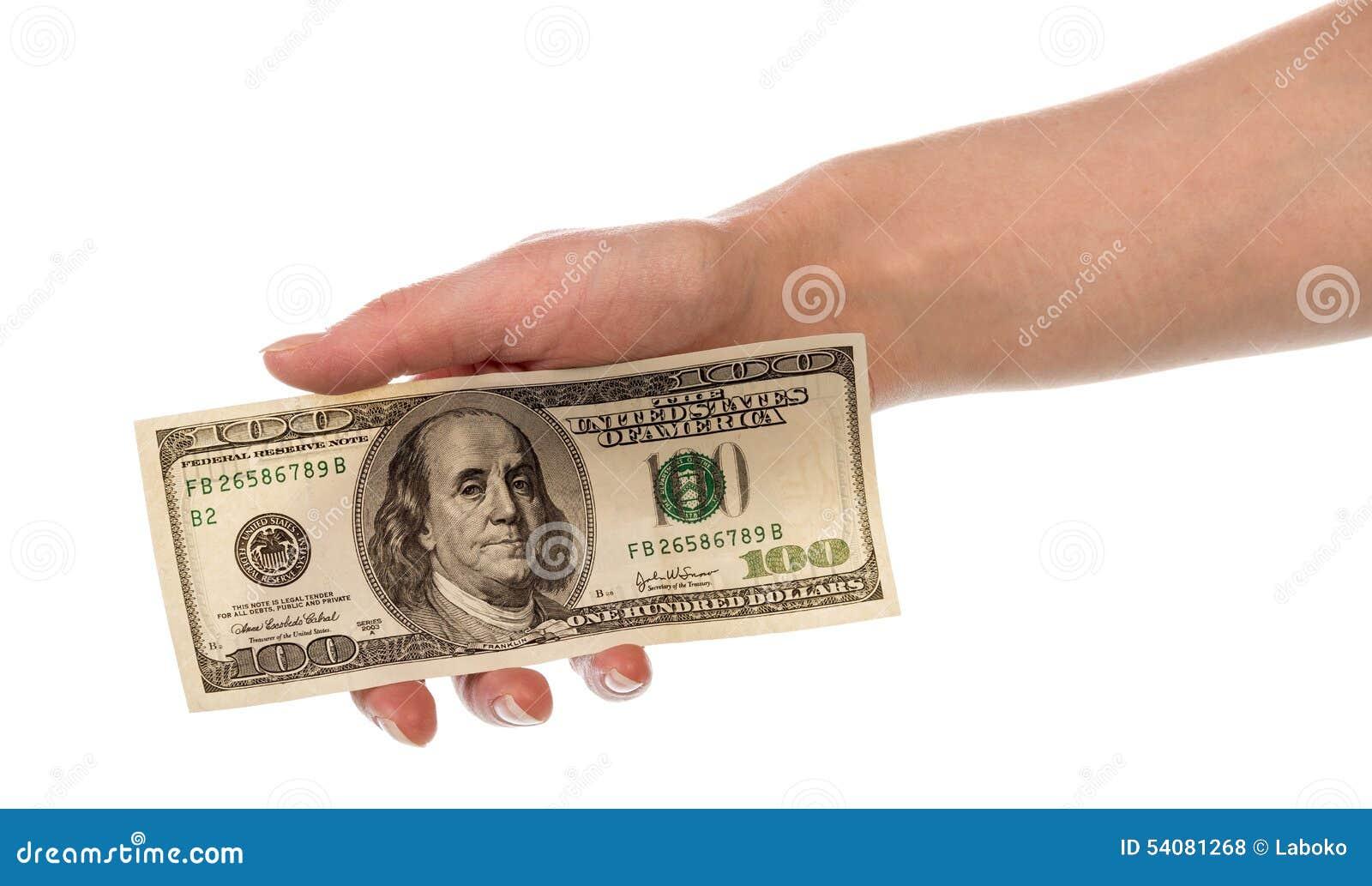 Geld in menselijke hand