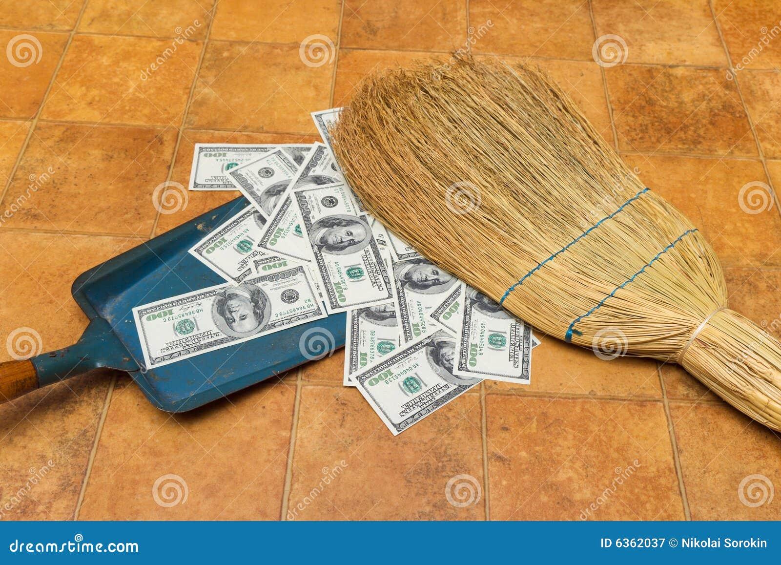 Fußboden Aus Geld ~ Geld und besen stockbild bild von bargeld fußboden dollar