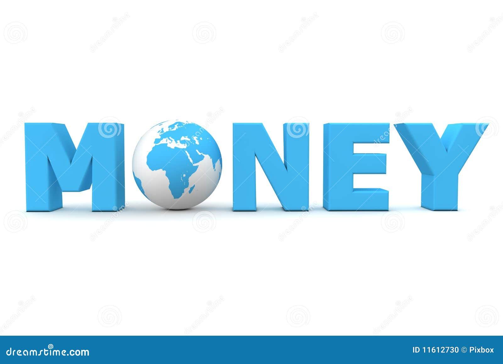 Geld-Weltblau