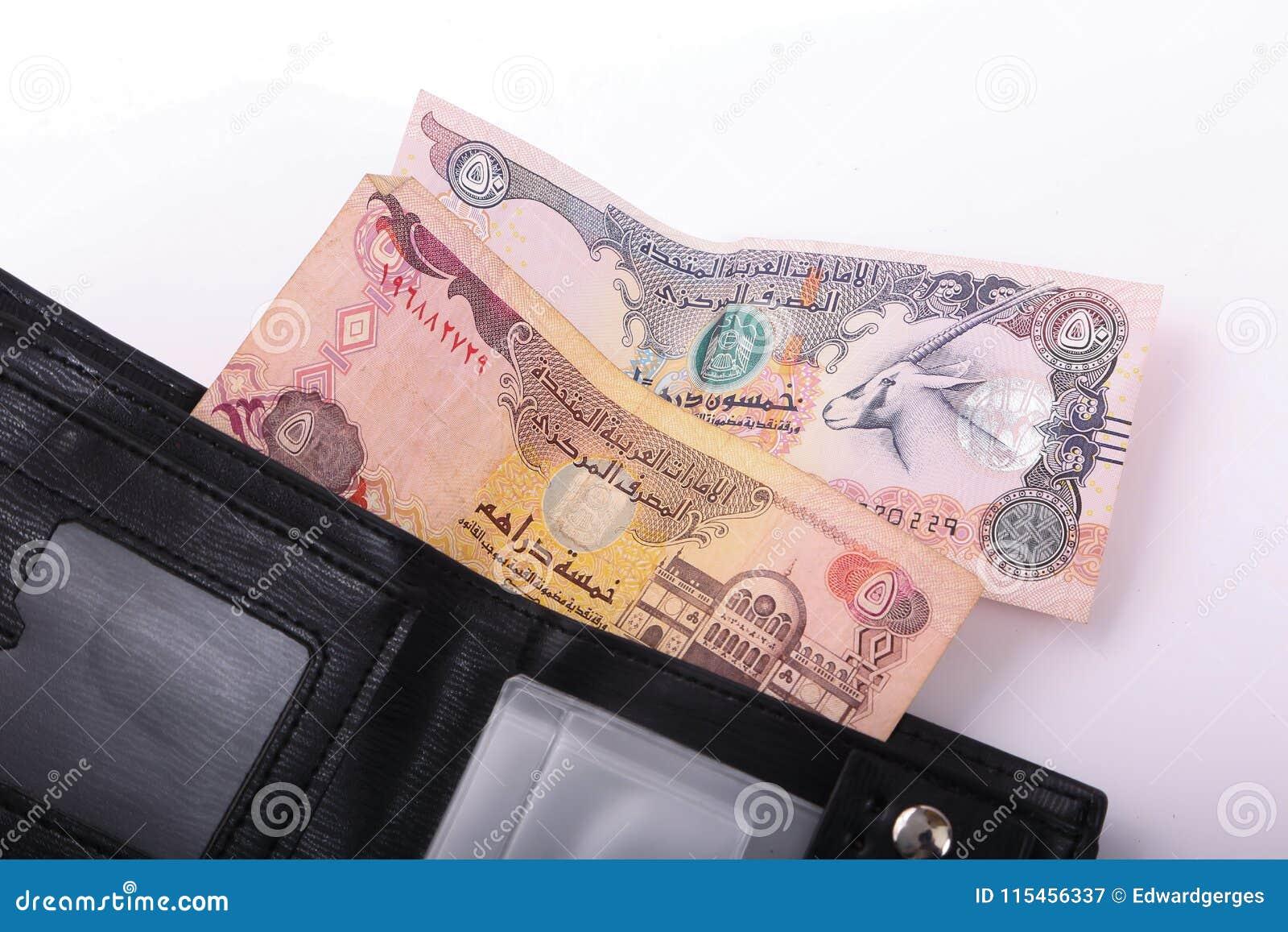 Geldbörse mit Emirat-Dirham
