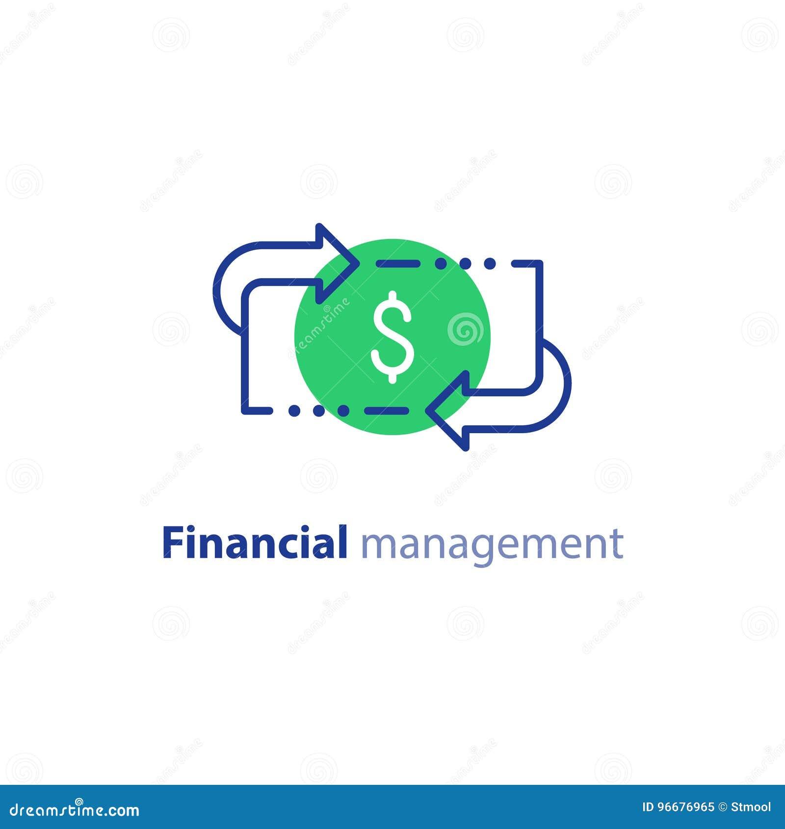 Geldbesparingen, investeringsplan, effectenbeurs, de financiëndiensten, lijnpictogram