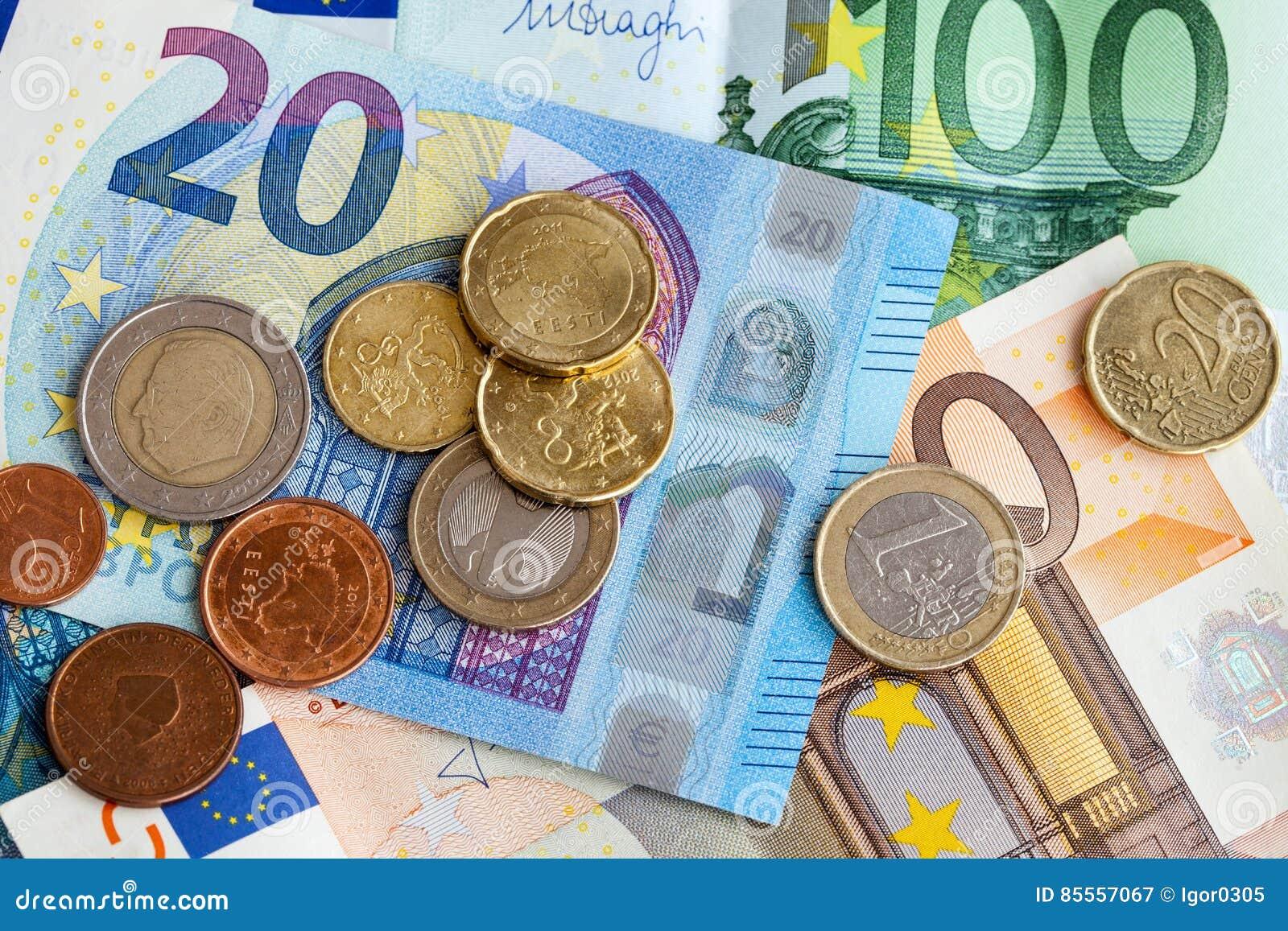 Geldeuromünzen und -banknoten