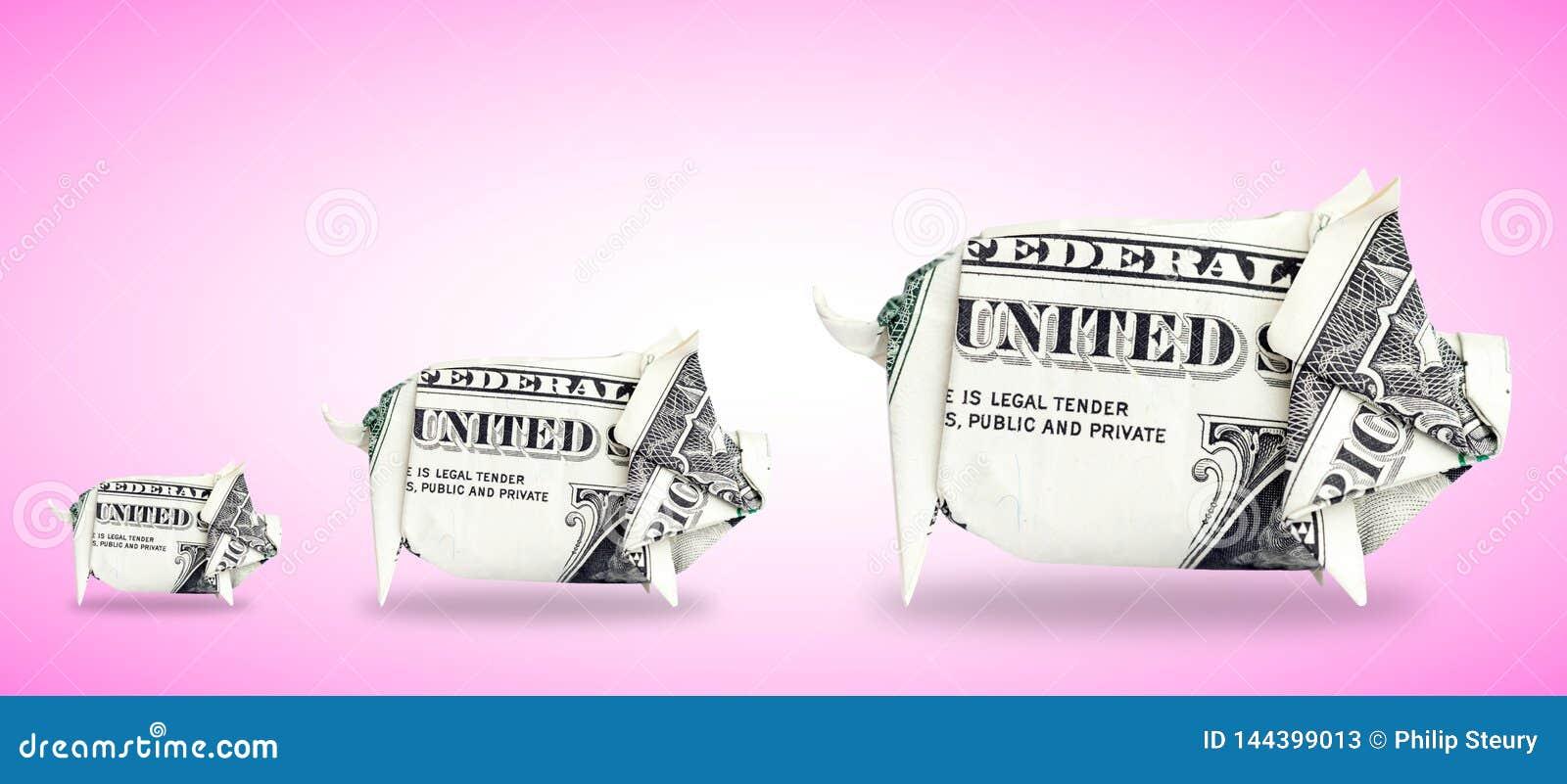 3 geldvarkens