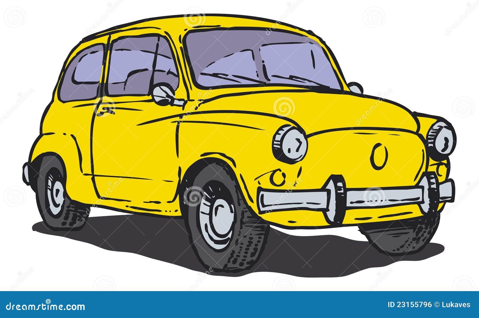 Gele auto vector illustratie illustratie bestaande uit for Gele lampen auto