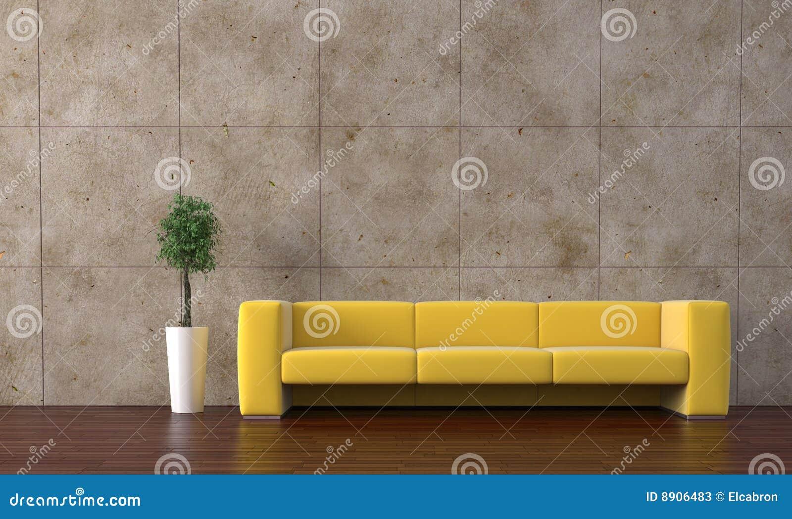gele bank stock foto 39 s afbeelding 8906483. Black Bedroom Furniture Sets. Home Design Ideas