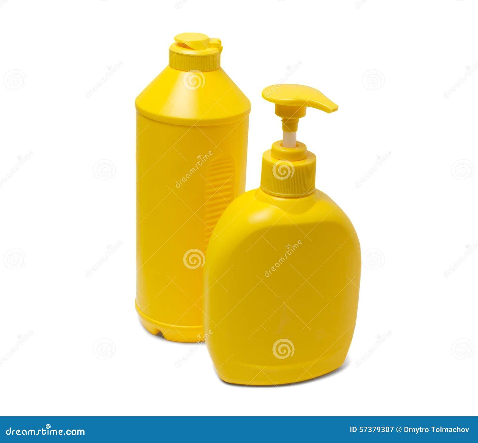 Gele containers voor detergentia
