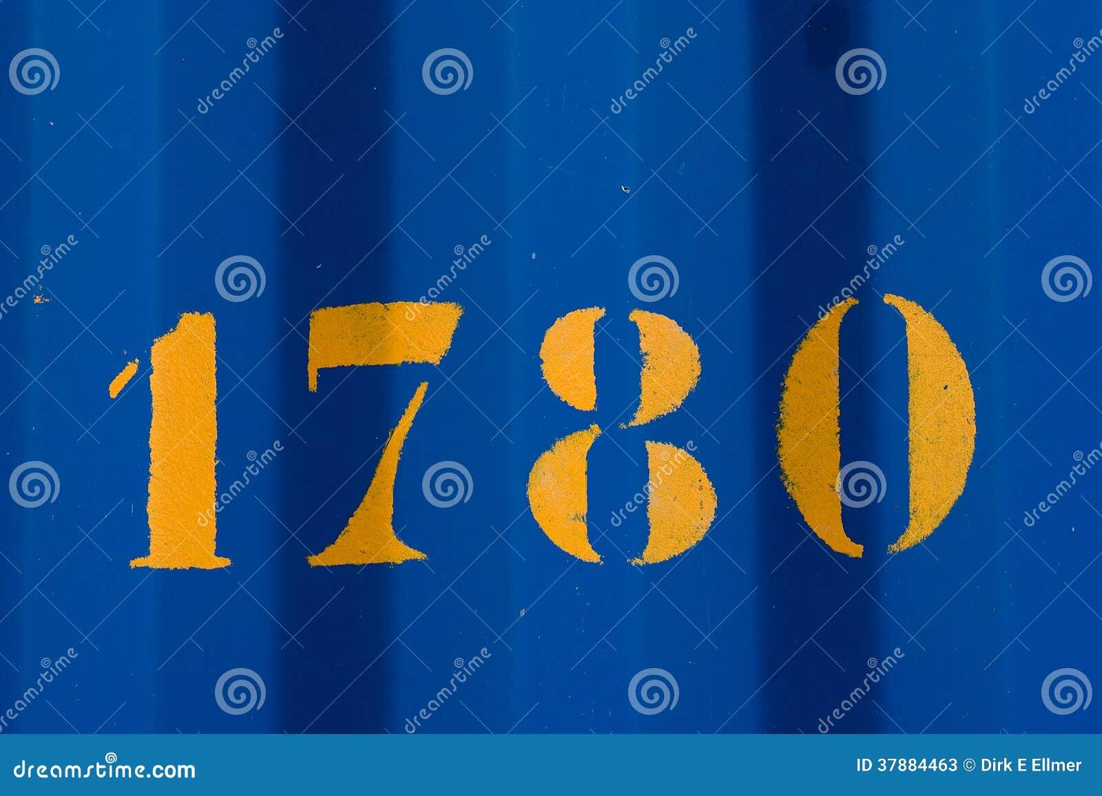 Gele doopvont 1780 op bluwstaalplaat