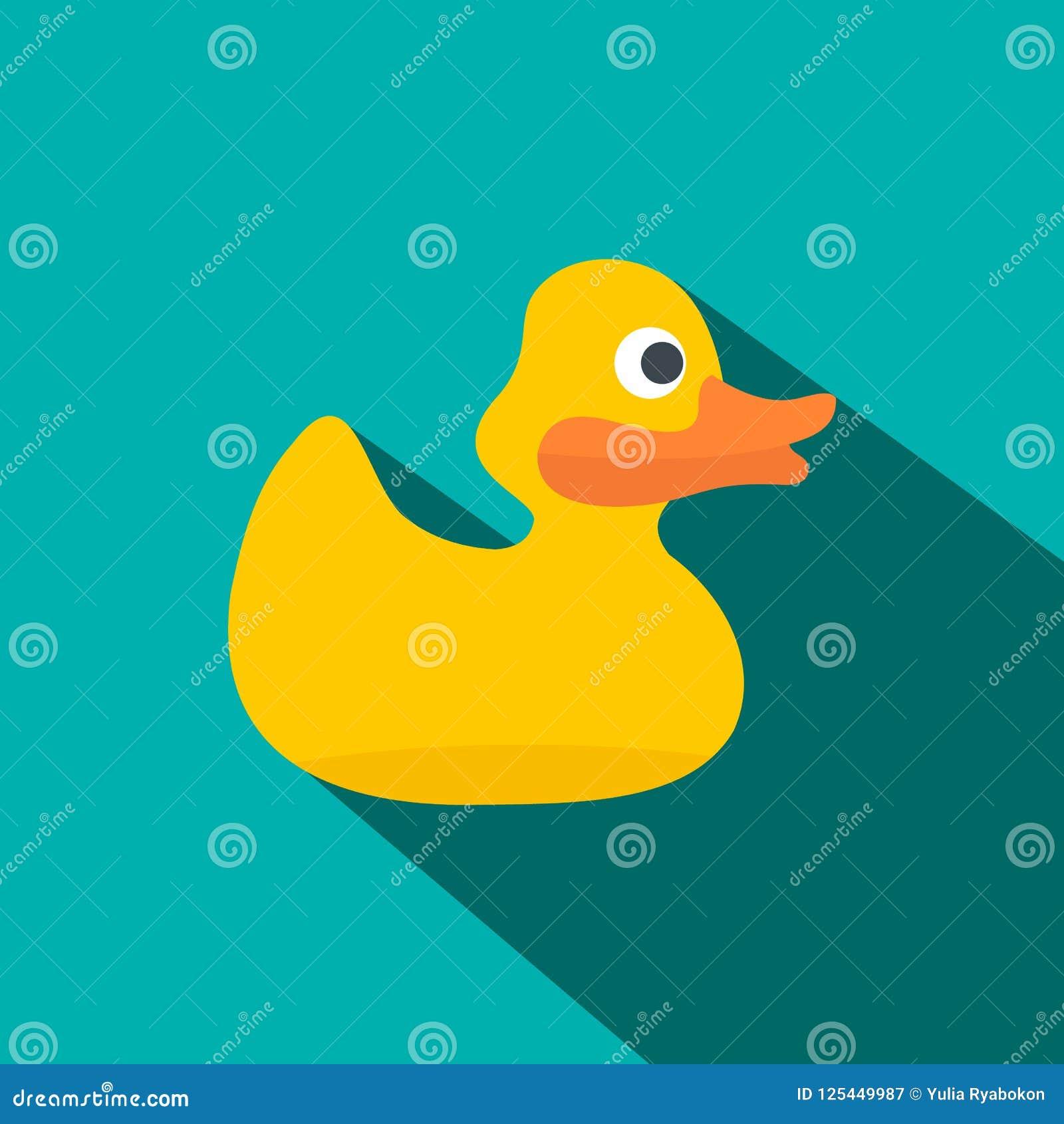 Gele eend voor bad vlak pictogram