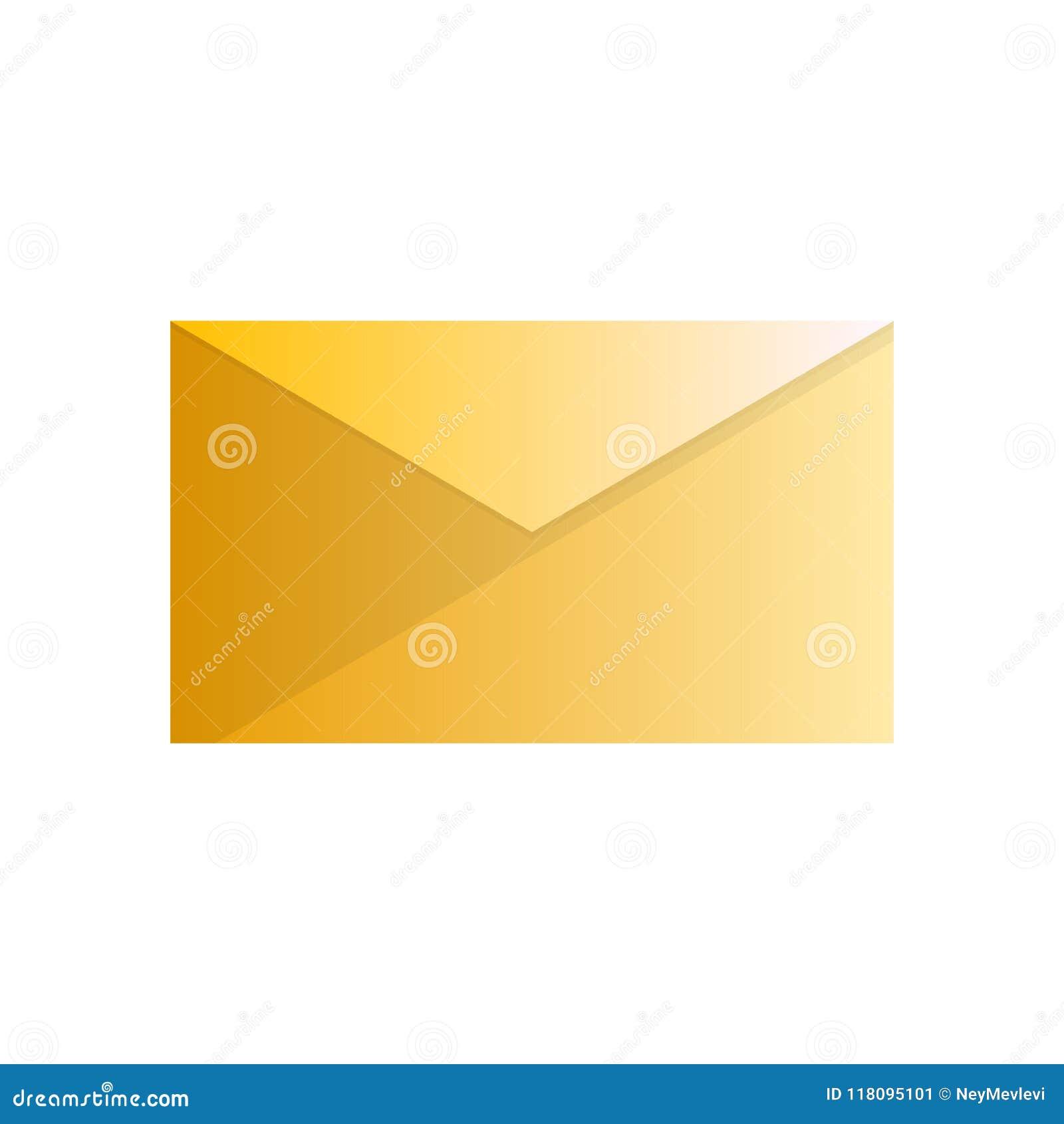 Gele eenvoudig maar exlusive envelop