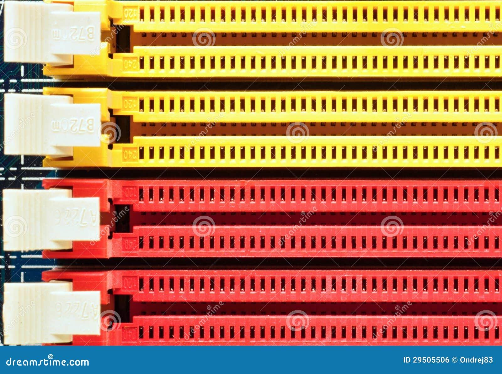 Gele en rode schakelaars