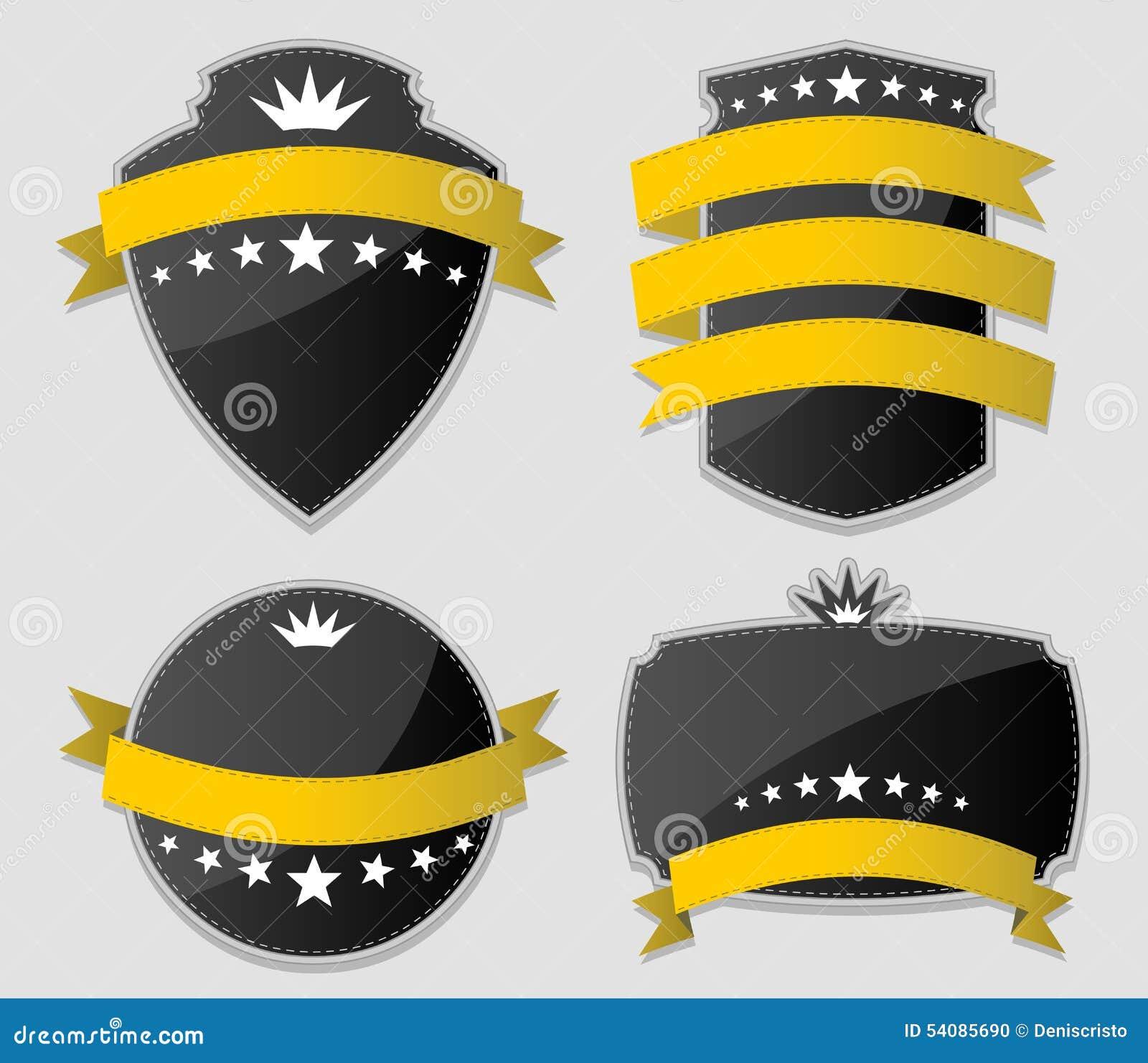 Gele en zwarte ontwerpelementen
