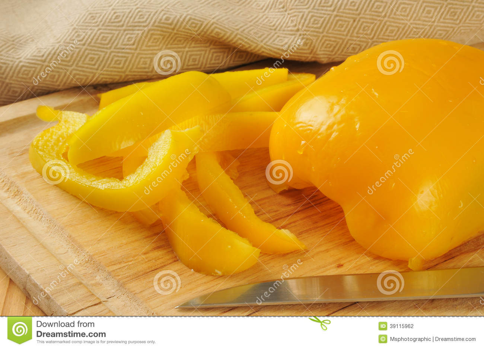 Gele groene paprika s