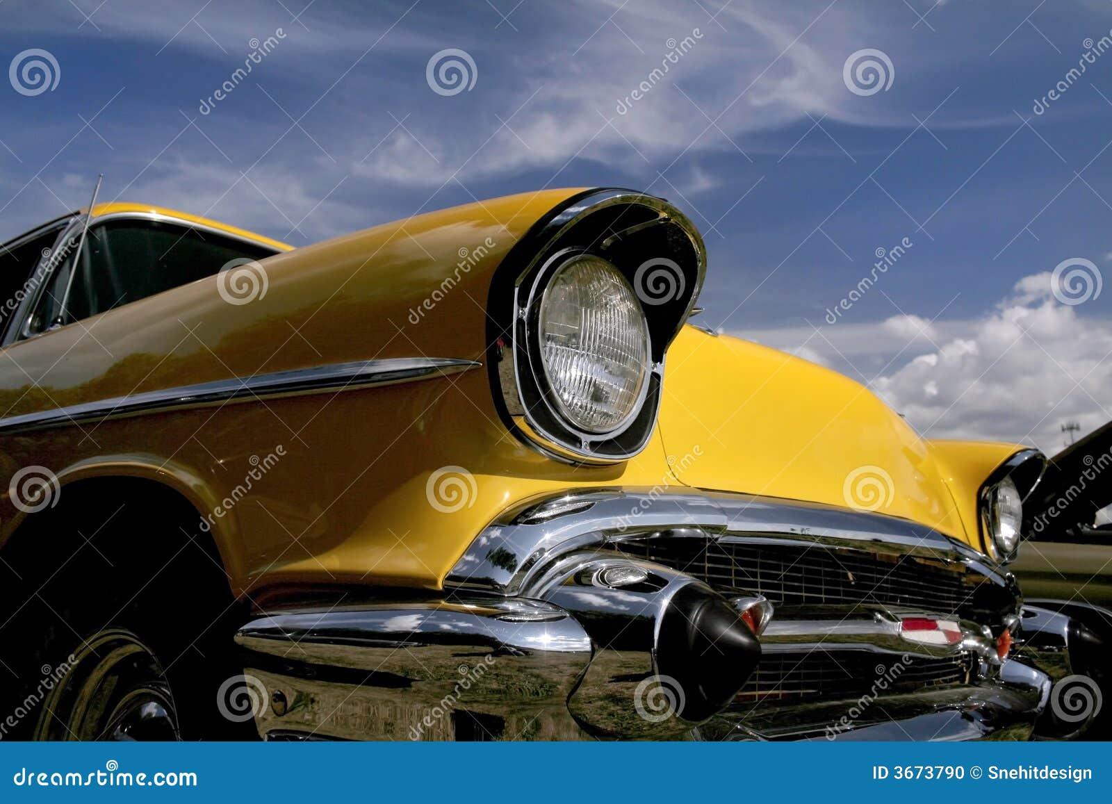 Gele Klassieke Auto