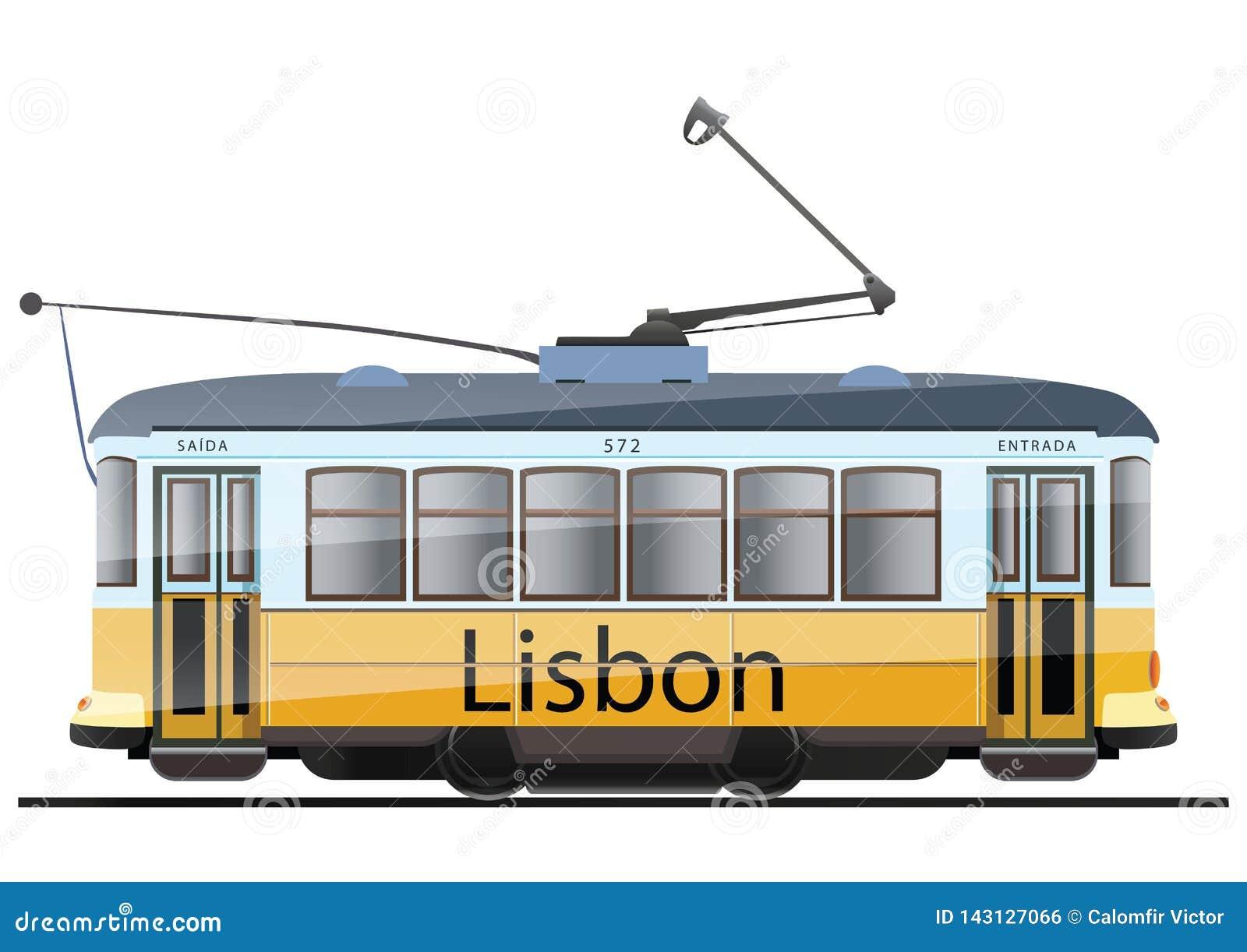 Gele Lissabon tram
