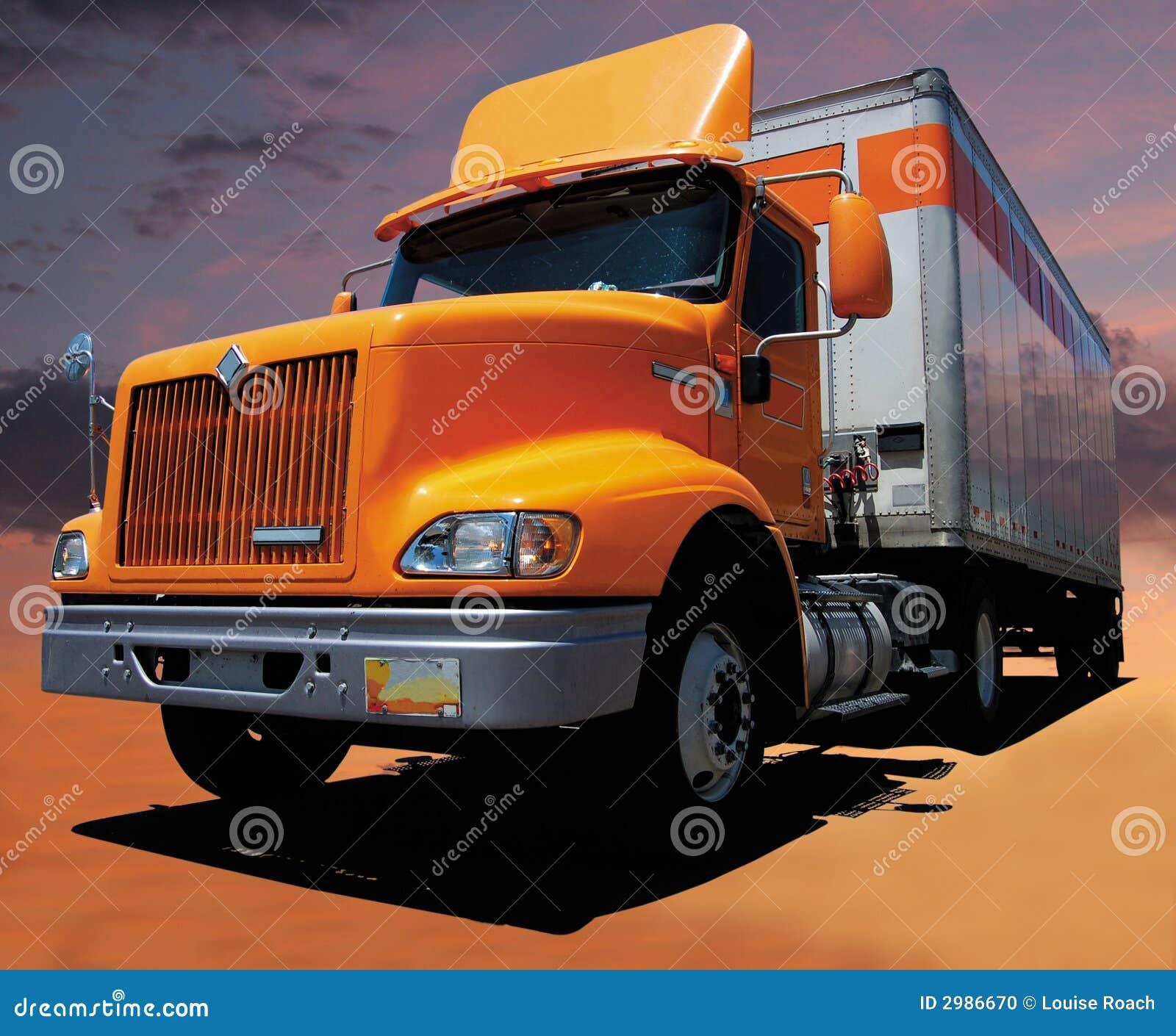 Gele Semi Vrachtwagen