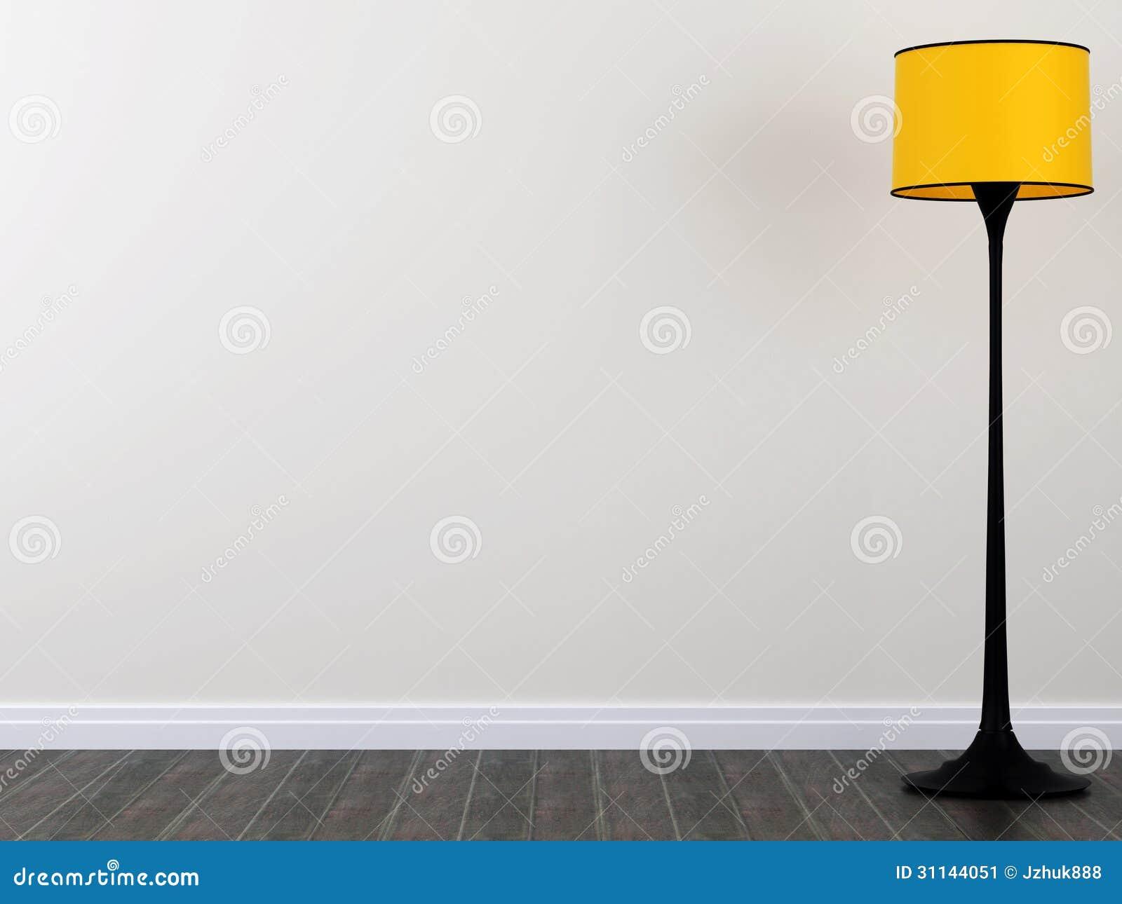 Gele staande lamp stock afbeelding afbeelding bestaande uit bruin