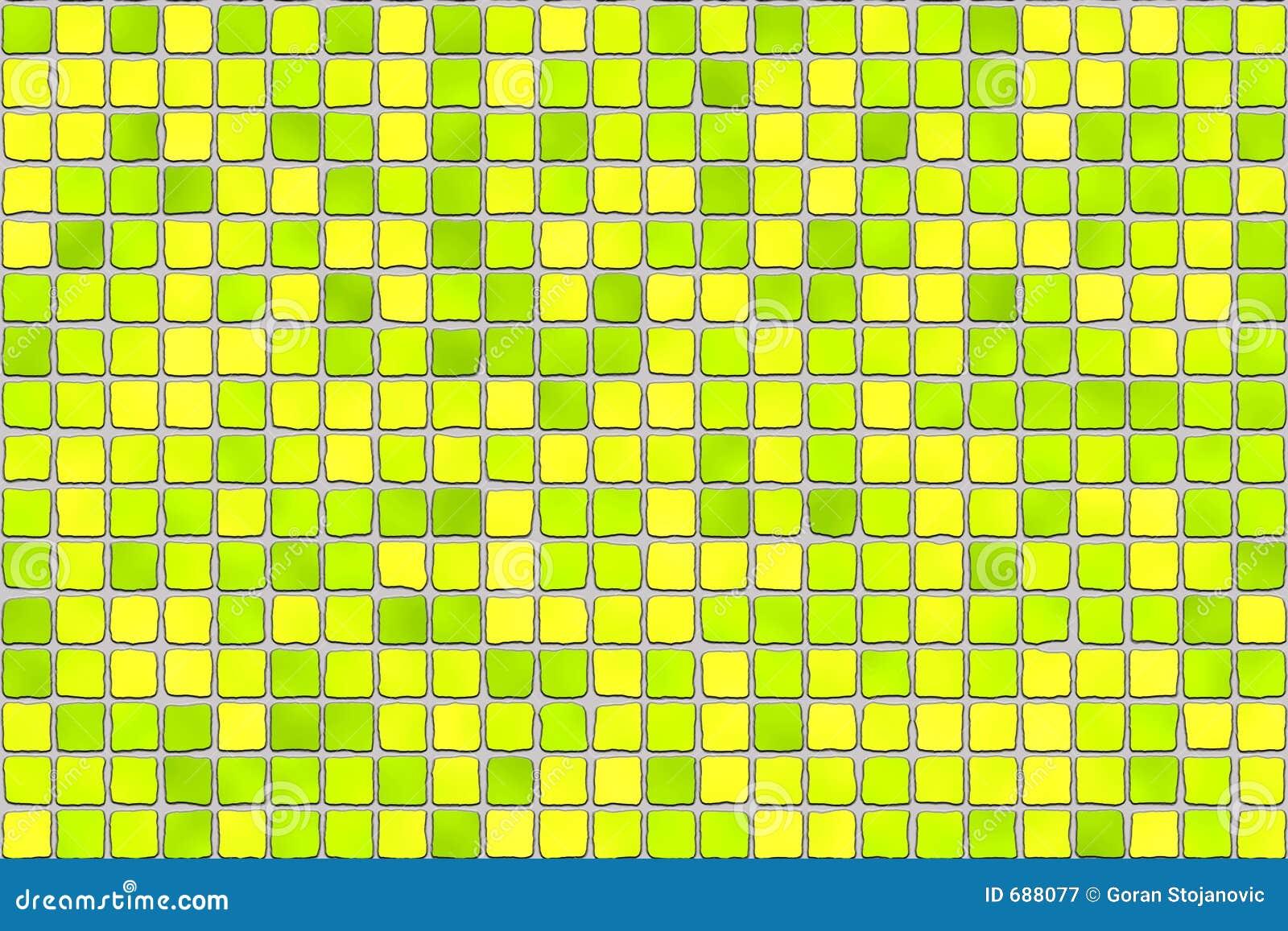 Badkamer Accessoires Set ~ Gele Tegels  Moza?ek Royalty vrije Stock Fotografie  Afbeelding