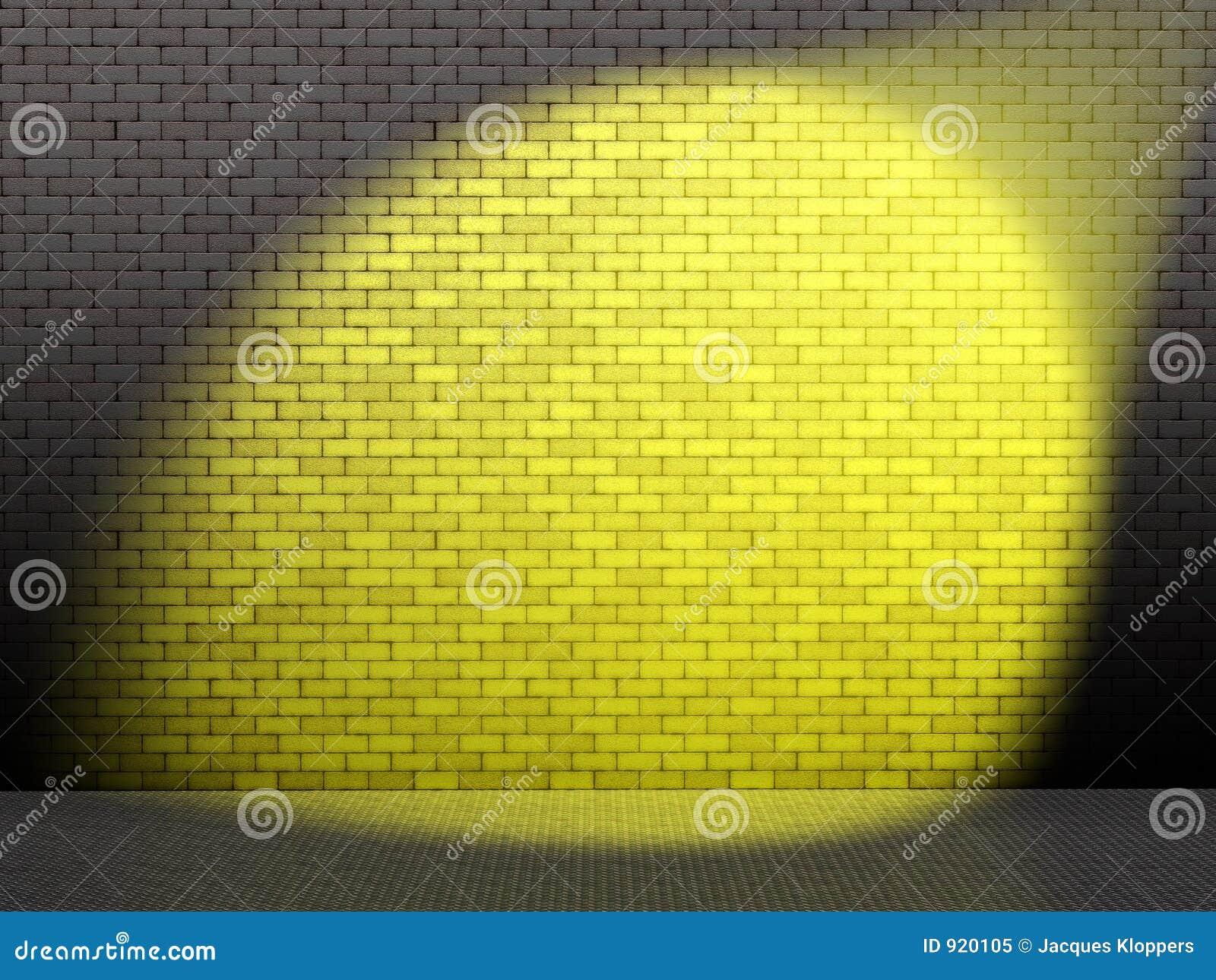 Gele vlek op muur