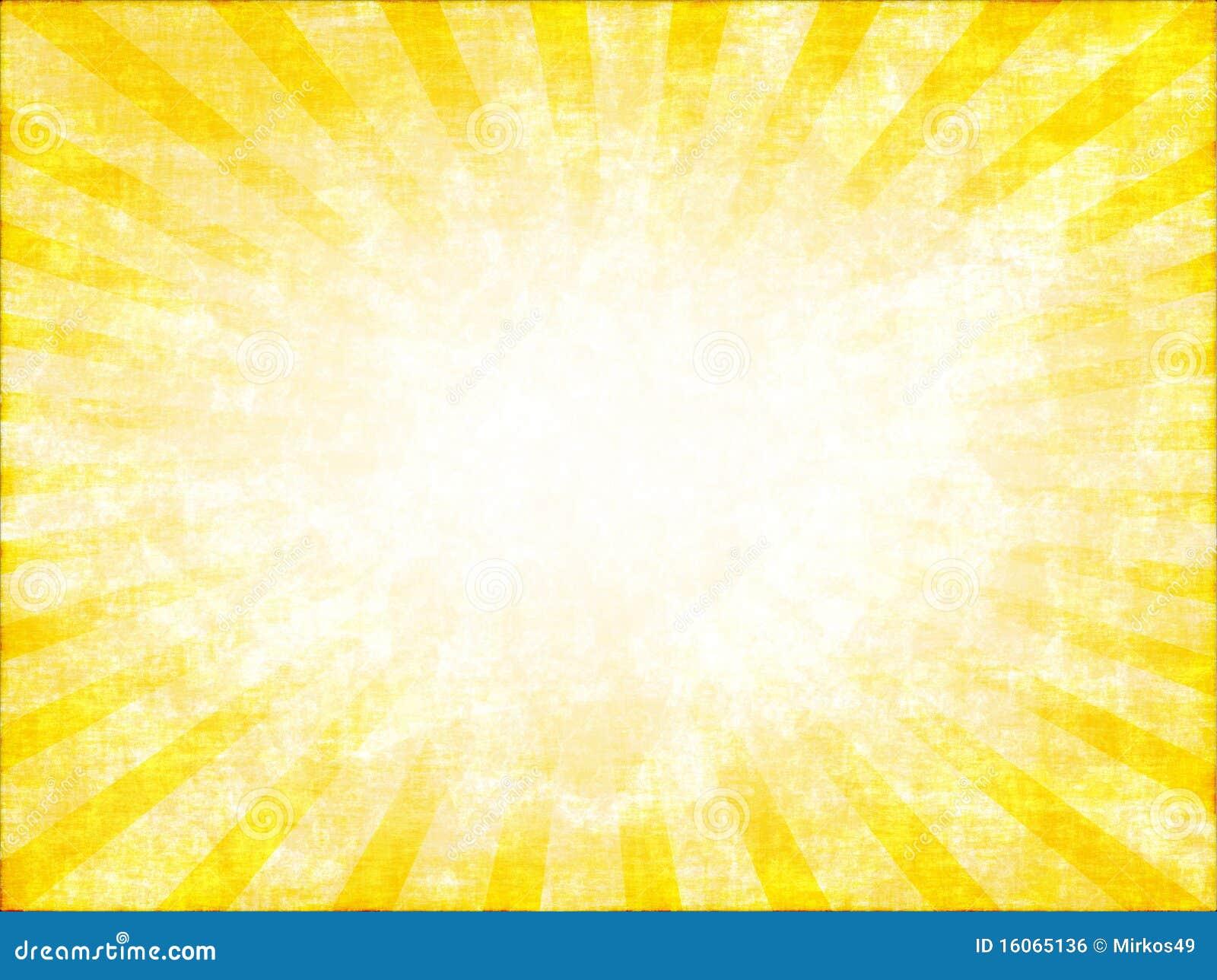 Gele zonnestraal