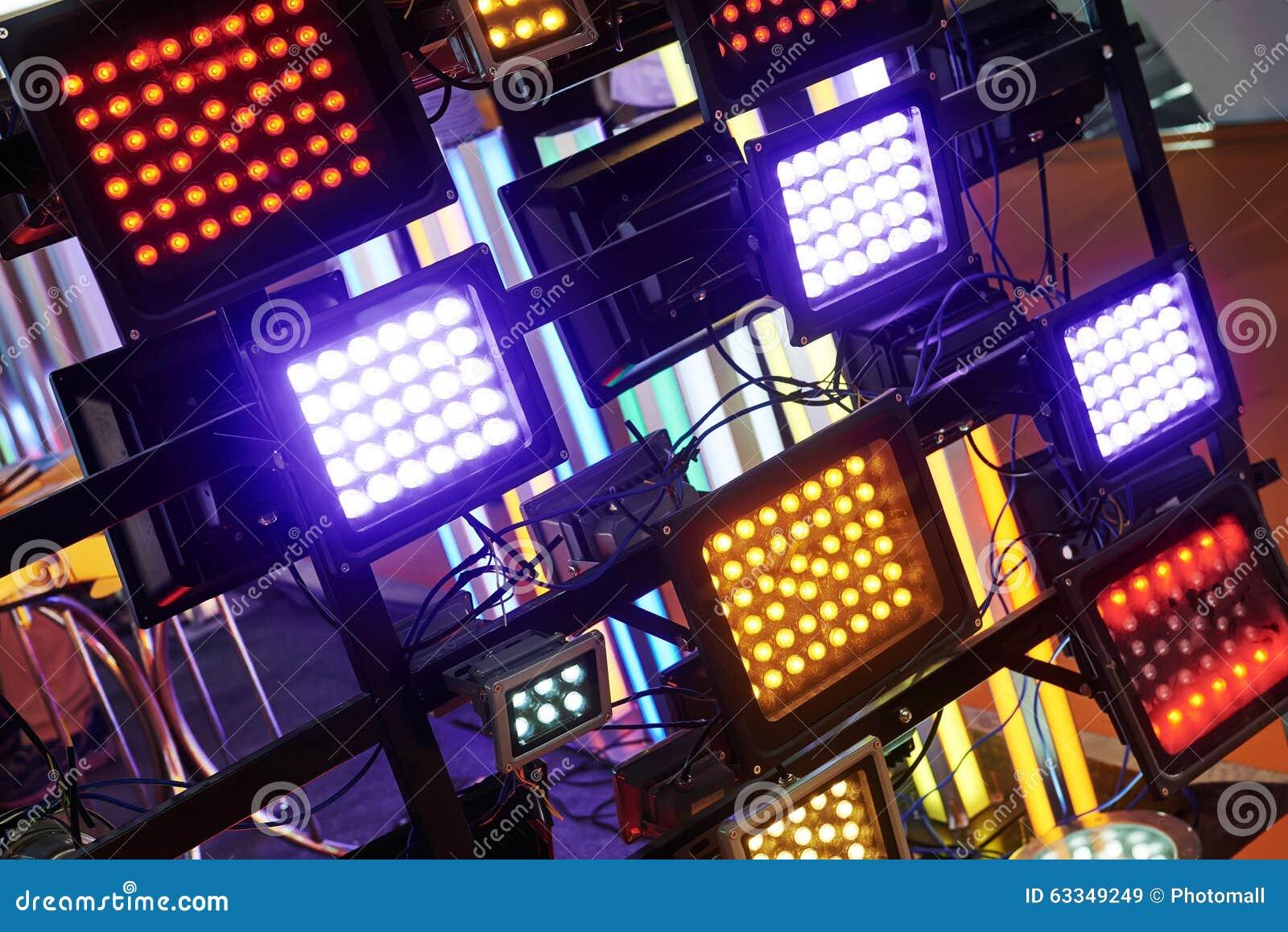 Geleide stadiumverlichting