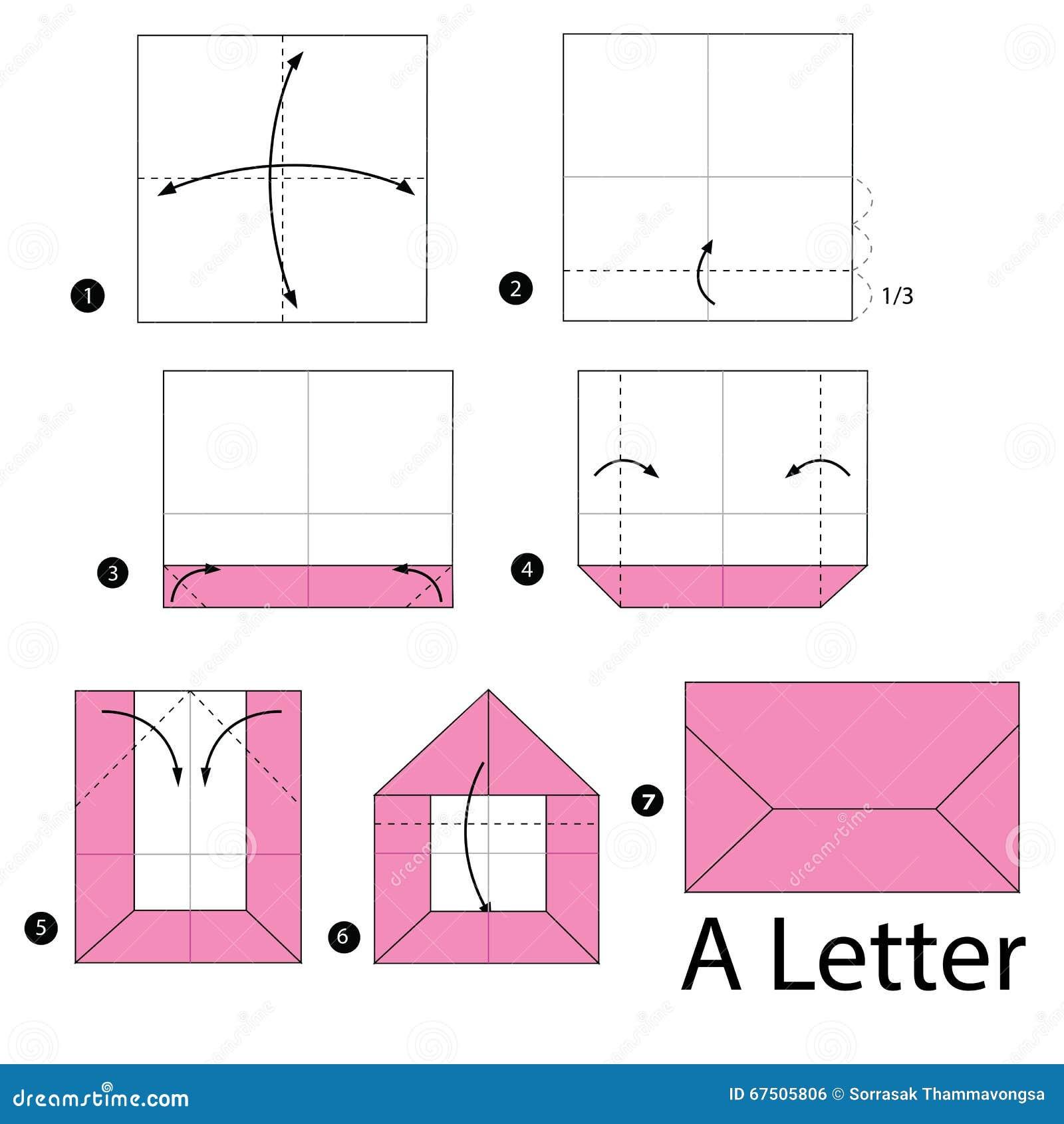 Geleidelijke instructies hoe te om tot origami een brief for How to make a letterbox out of cardboard
