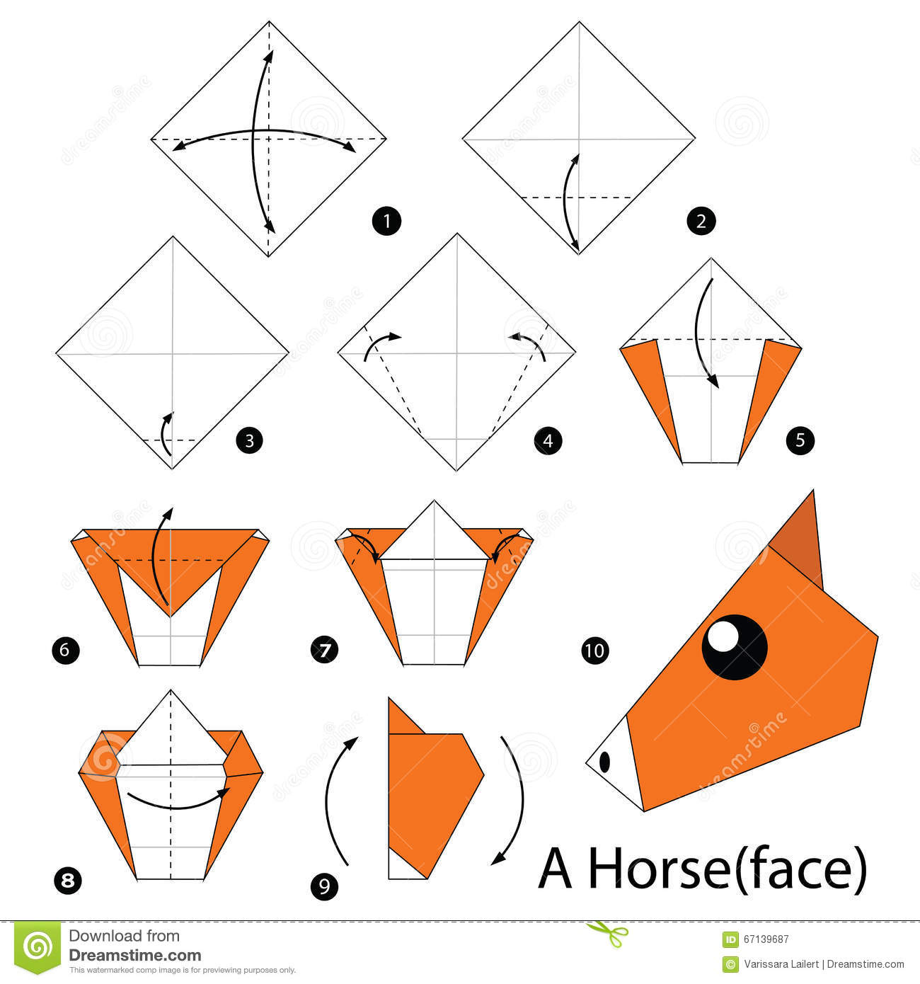 How To Make An Origami Fox Face Step By Step