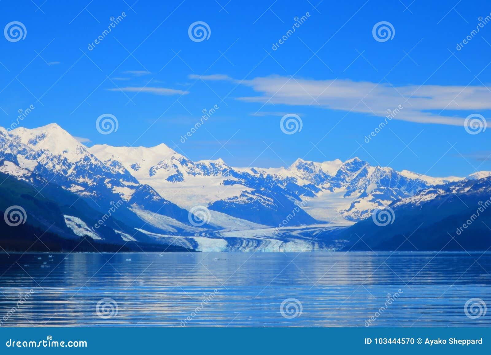 Geleira de Harvard no príncipe William Sound, Alaska