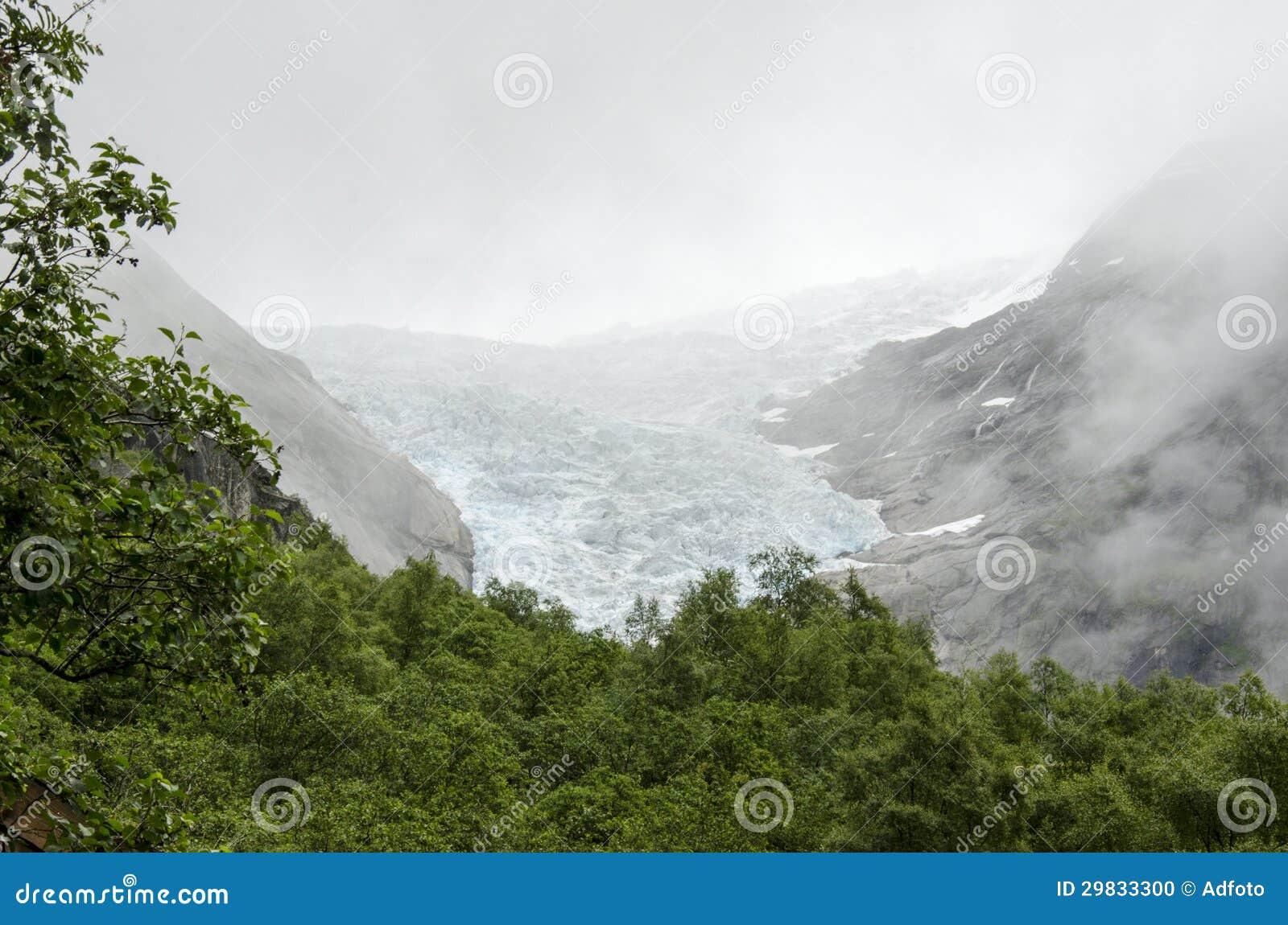 Geleira de Noruega - de Briksdal - parque nacional de Jostedalsbreen
