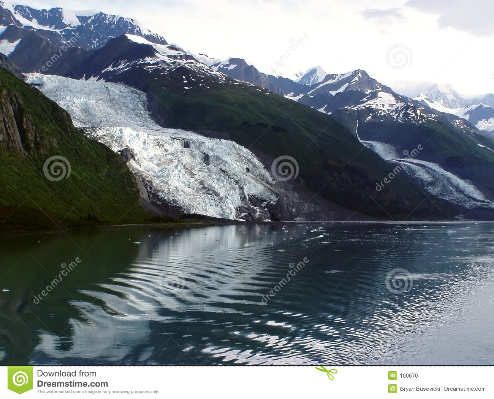 Geleira de Vassar - Fjord da faculdade, Alaska