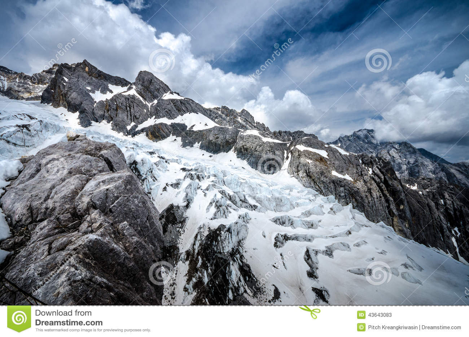 Geleira Jade Dragon Snow Mountain