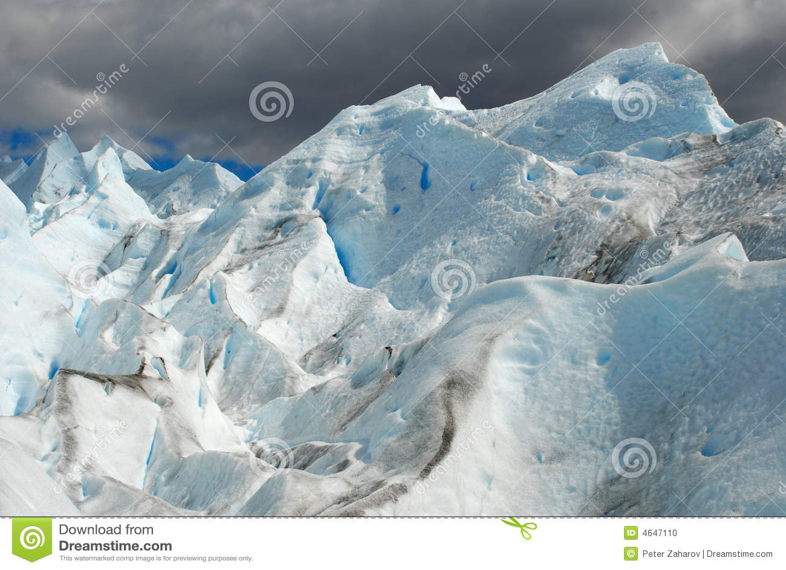 A geleira no Patagonia, Argentina de Perito Moreno.