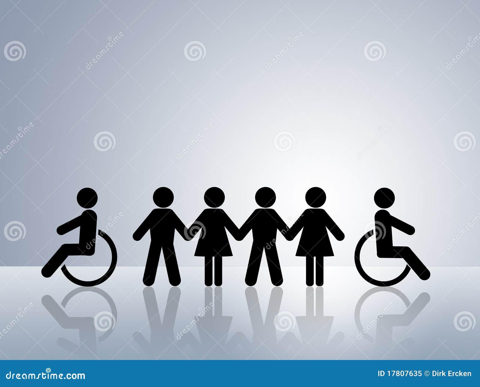 Gelijke kansen gehandicapte rolstoel