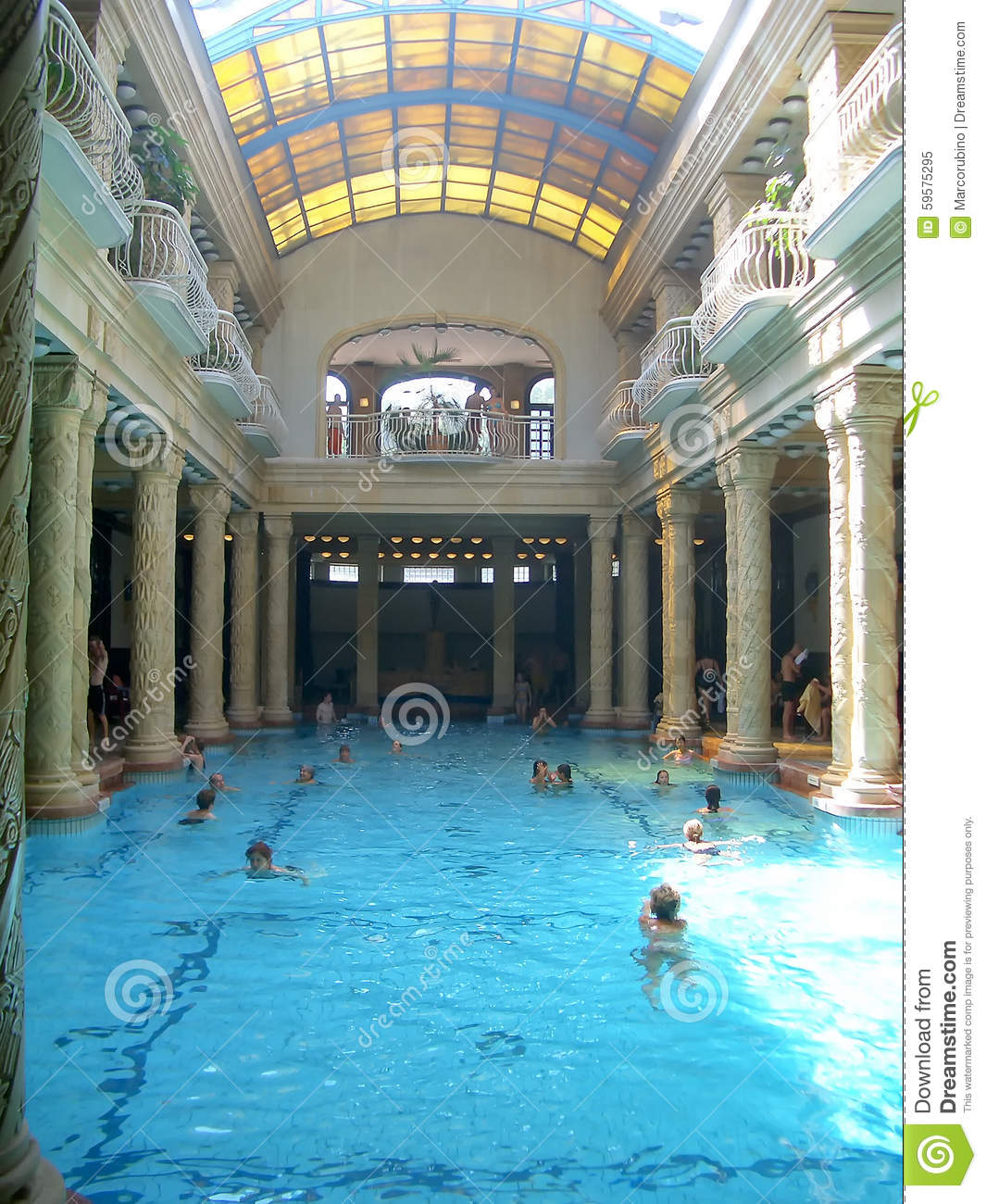 Gellért Thermal Baths And Swimming Pool, Budapest Editorial Image ...