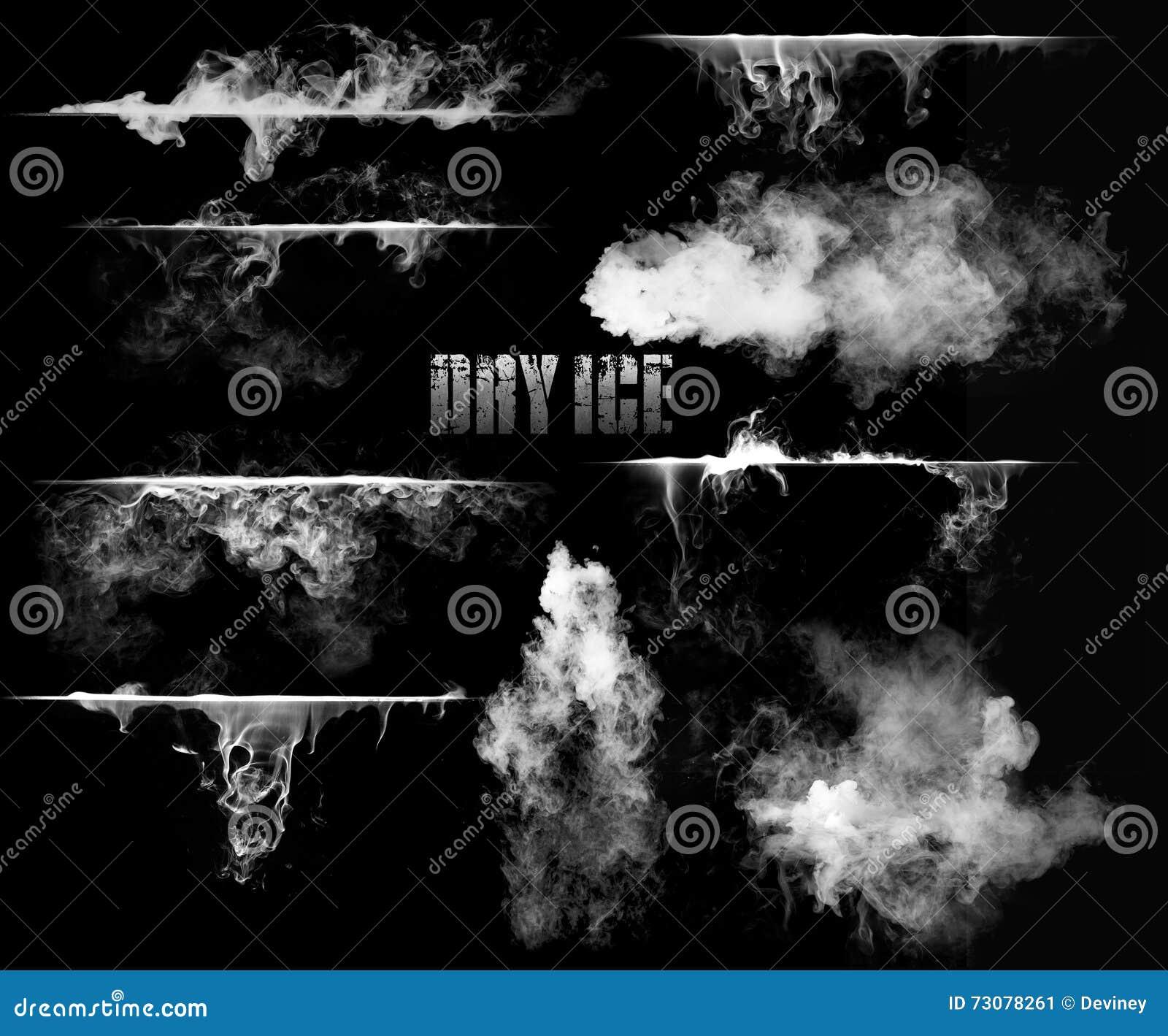 Gelo seco com fumo