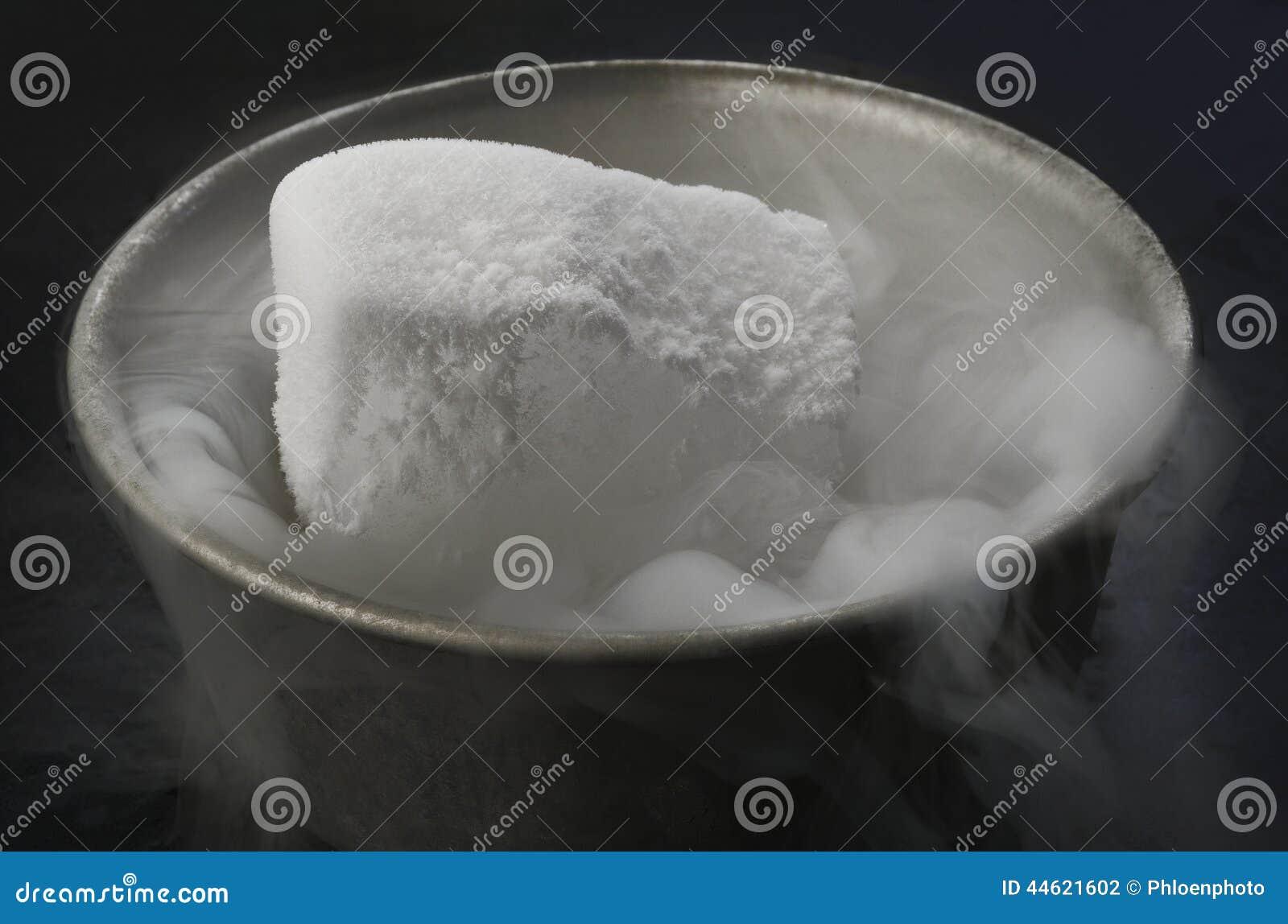Gelo seco na bacia