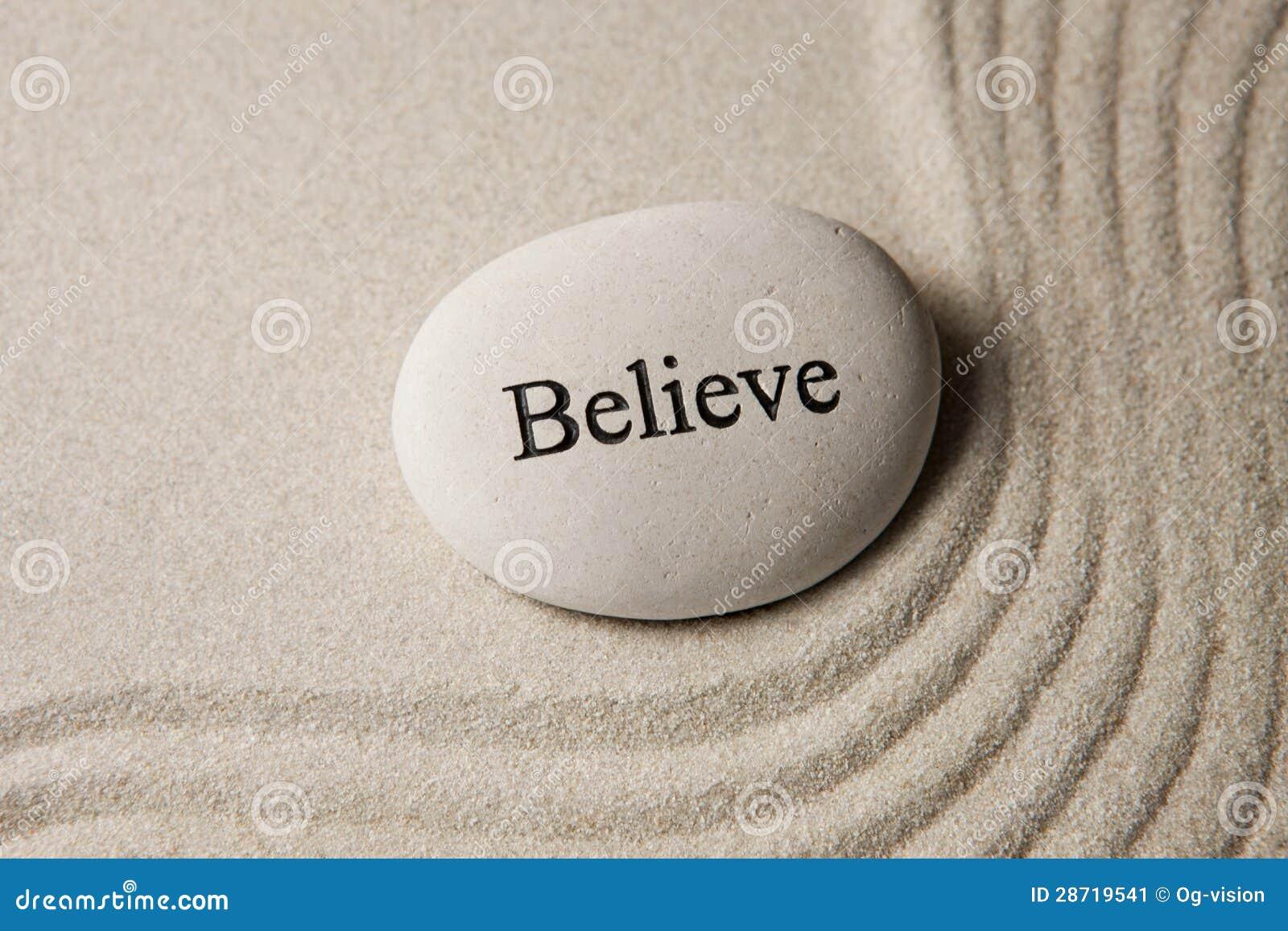 Geloof steen
