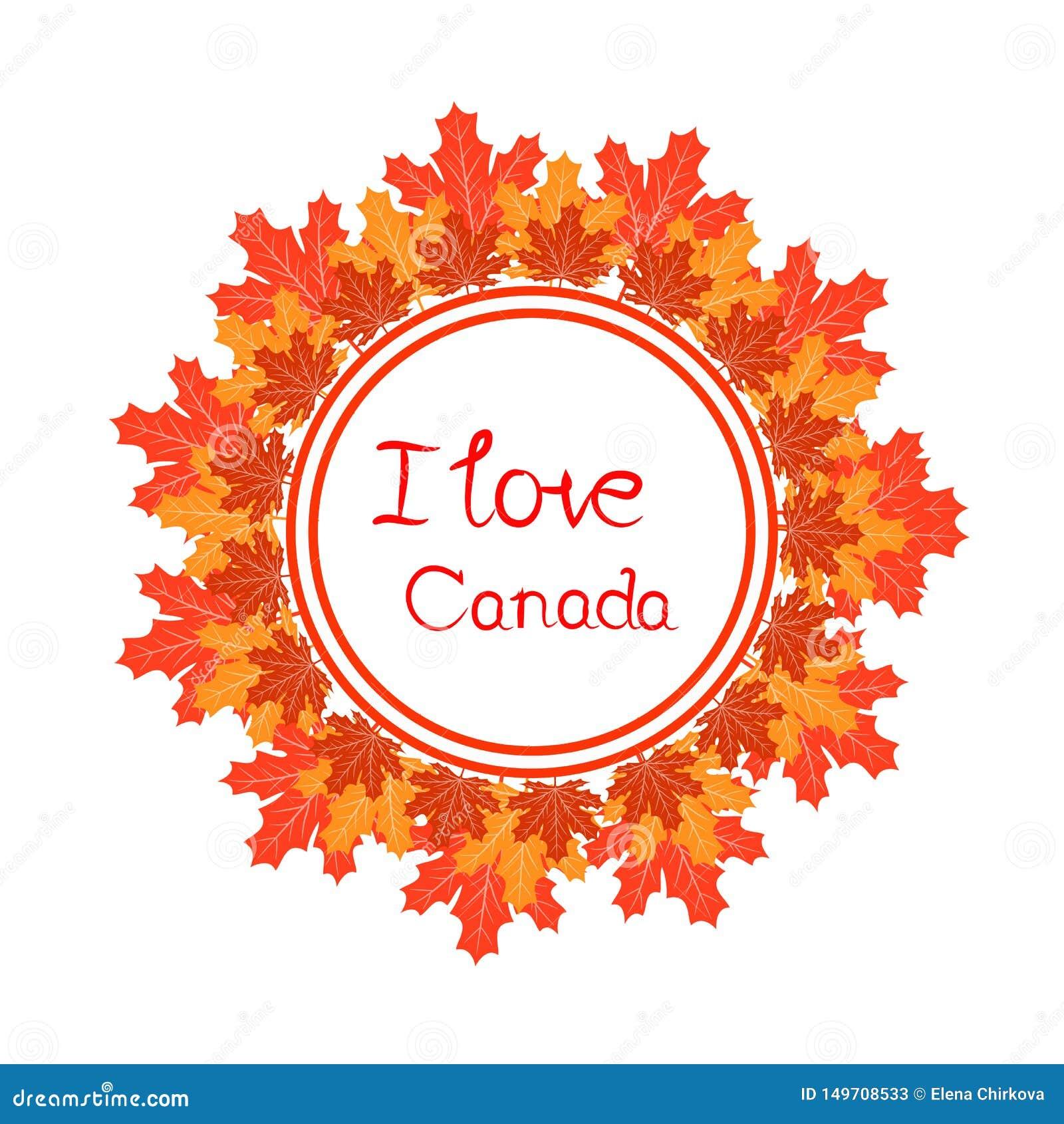 Gelukkig de dag vectormalplaatje van Canada met esdoornbladeren