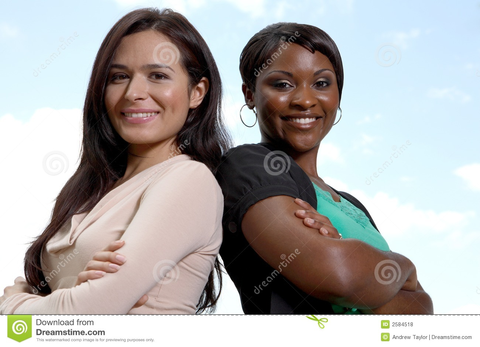 Gelukkig divers twee vrouwenteam