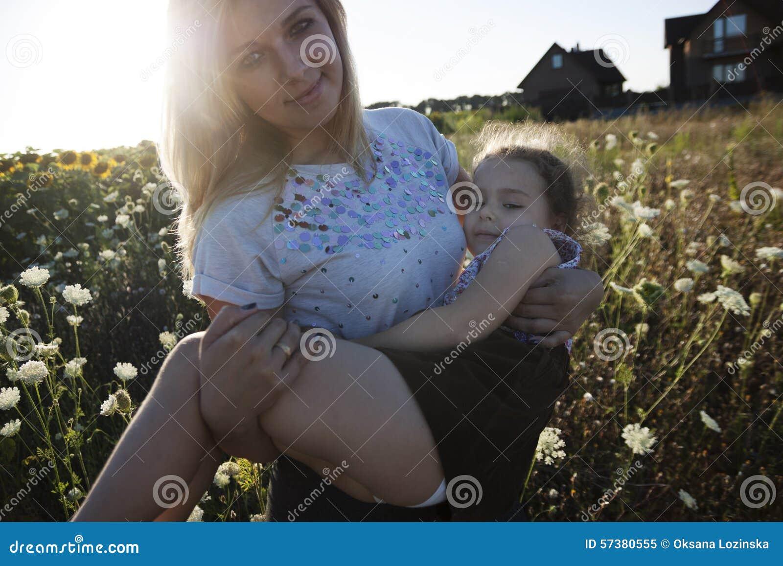 Gelukkig dochter en mamma