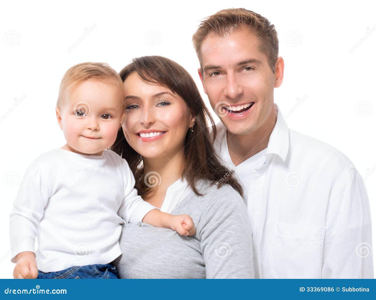 Gelukkig het Glimlachen Familieportret