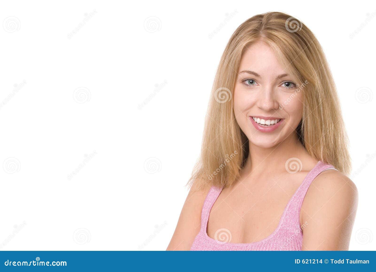 Gelukkig Meisje dat roze draagt
