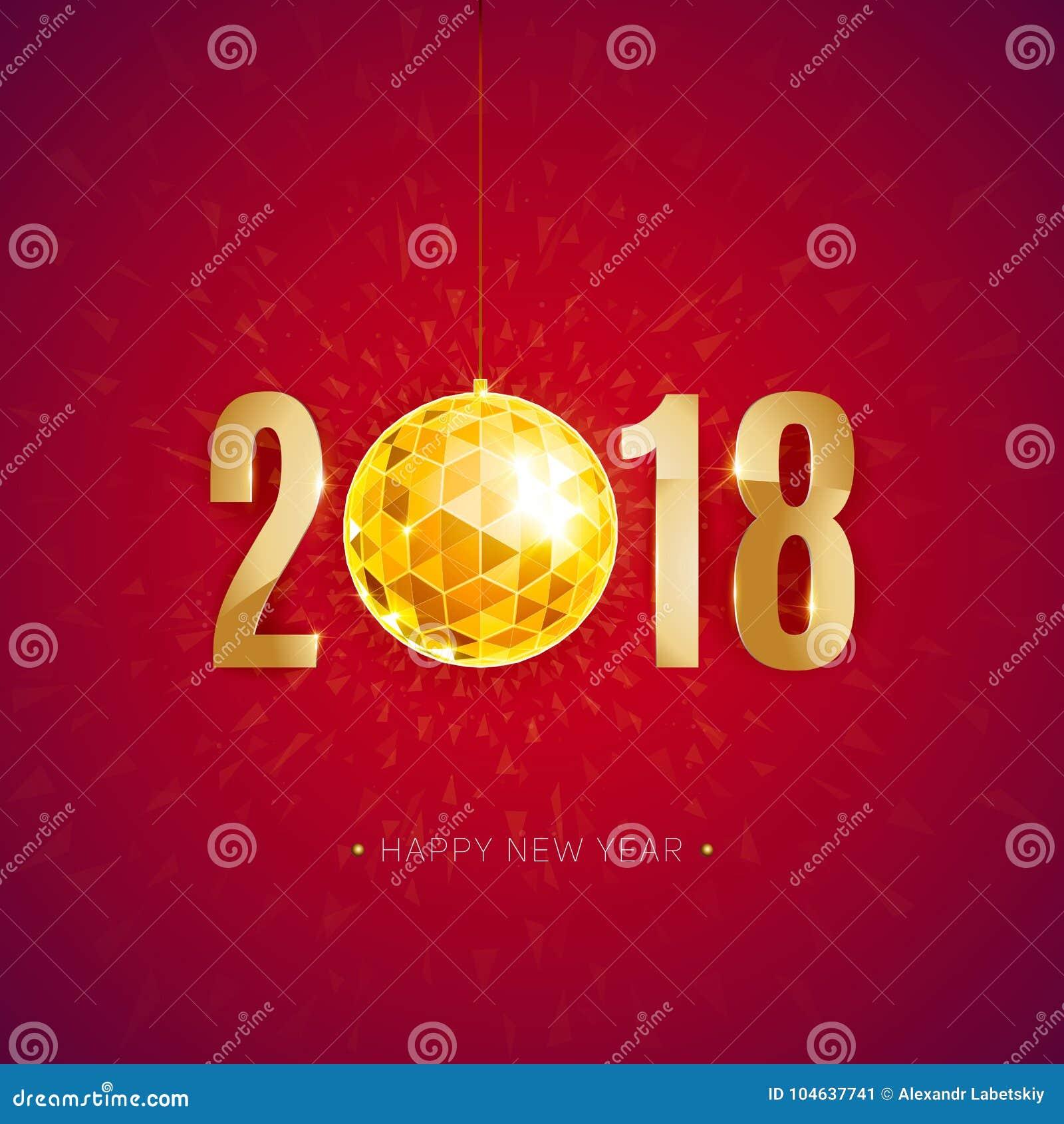 Download Gelukkig nieuw jaar 2018 vector illustratie. Illustratie bestaande uit middernacht - 104637741